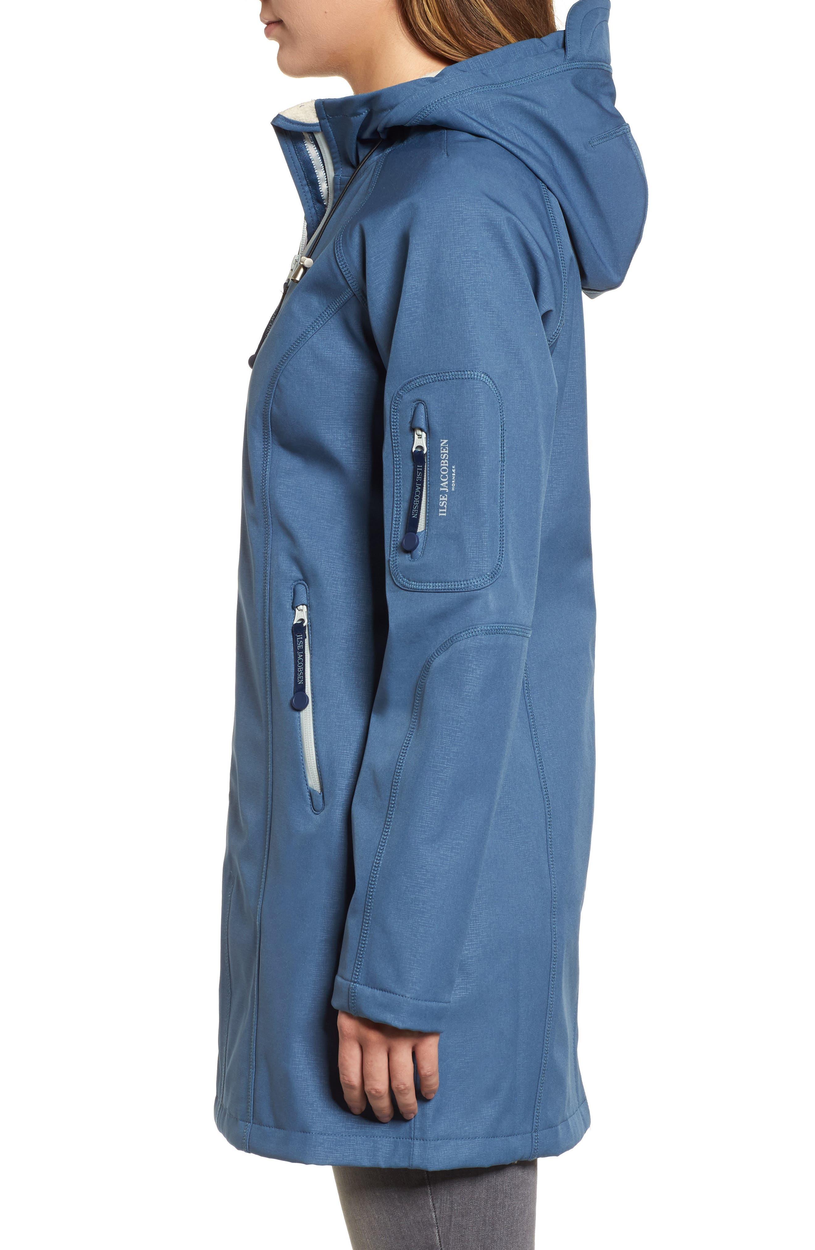 Regular Fit Hooded Raincoat,                             Alternate thumbnail 3, color,                             400
