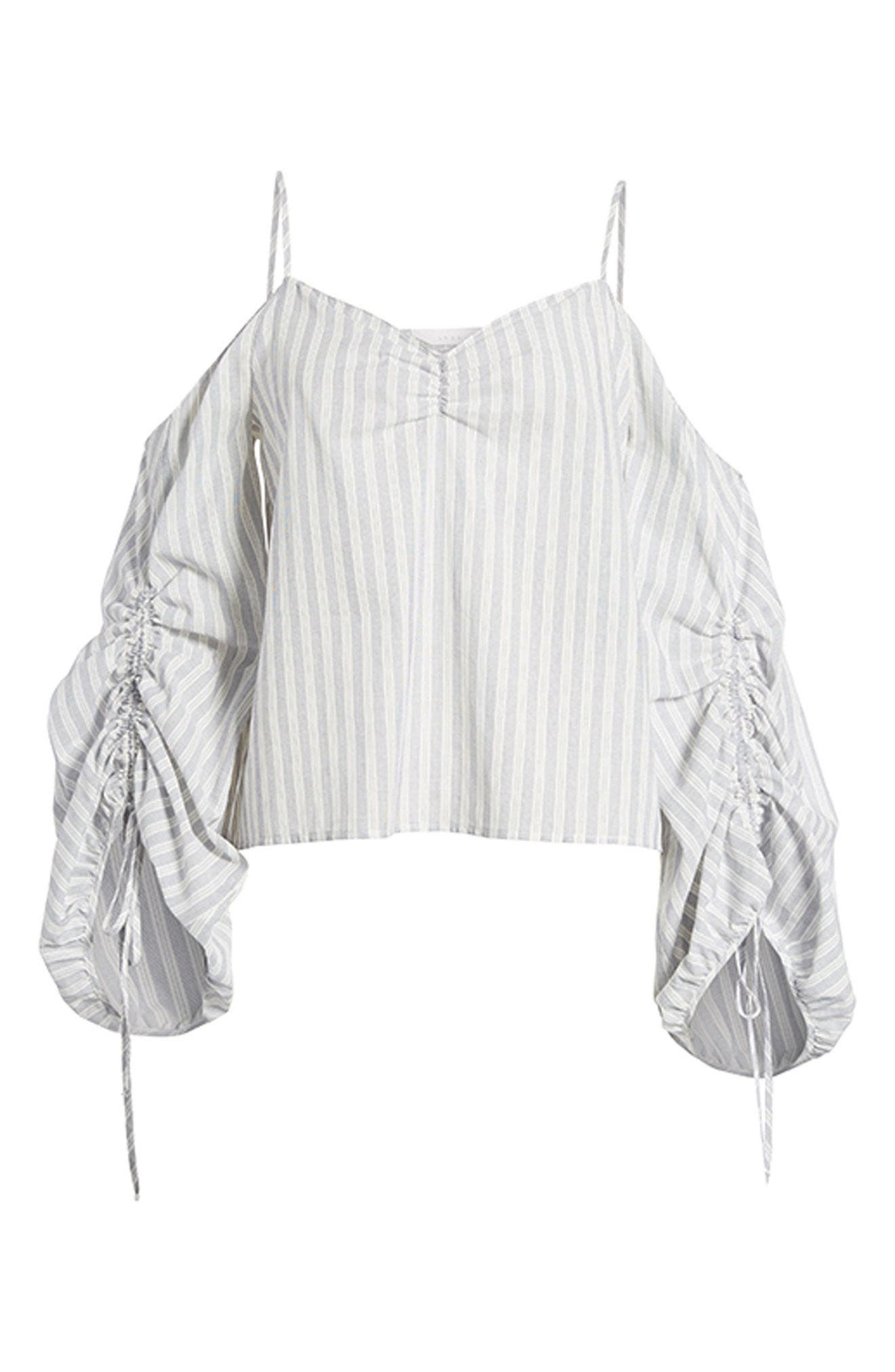 Cinched Balloon Sleeve Top,                             Alternate thumbnail 7, color,                             020