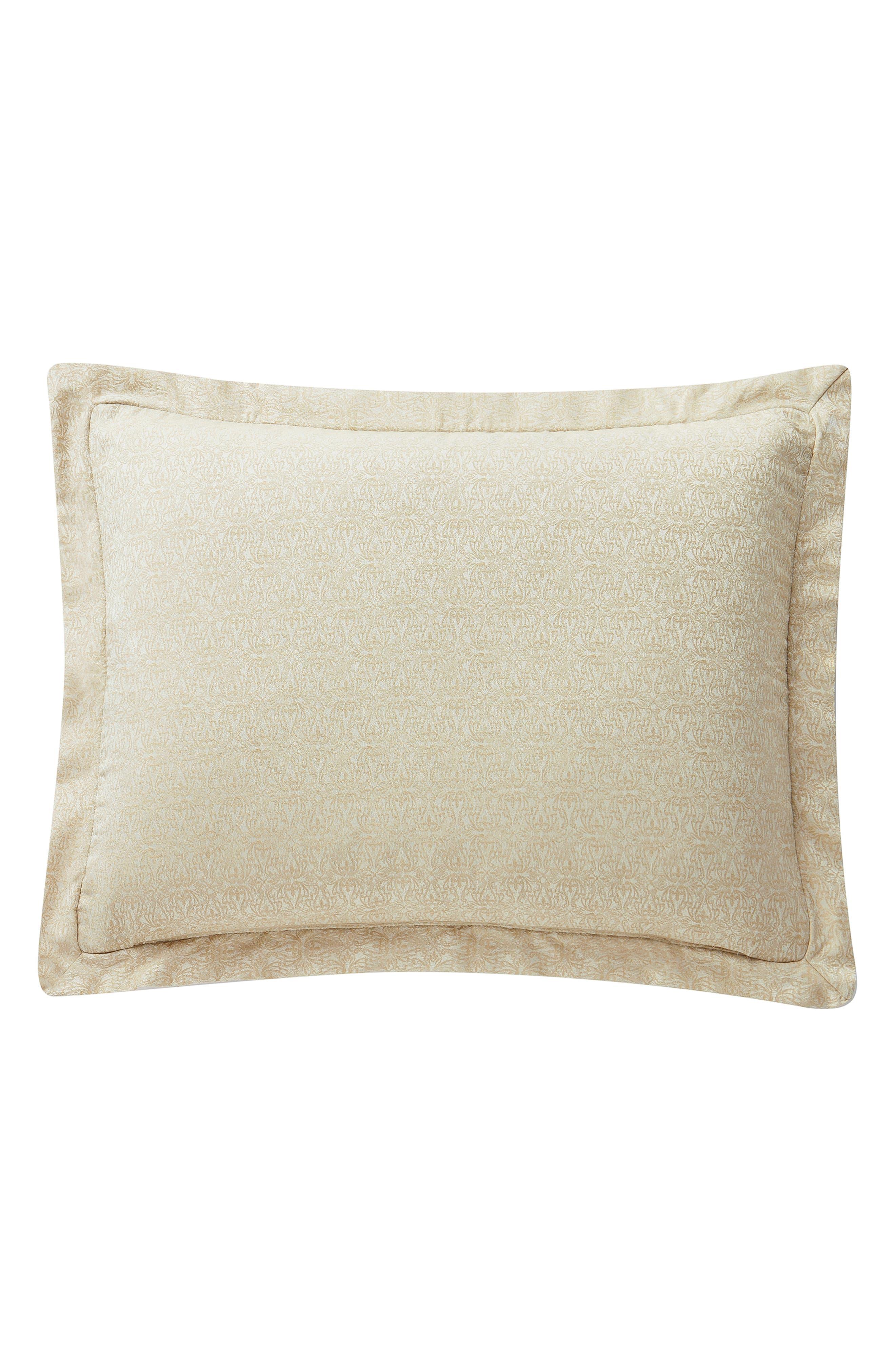 Annalise Reversible Comforter, Sham & Bed Skirt Set,                             Alternate thumbnail 8, color,                             GOLD