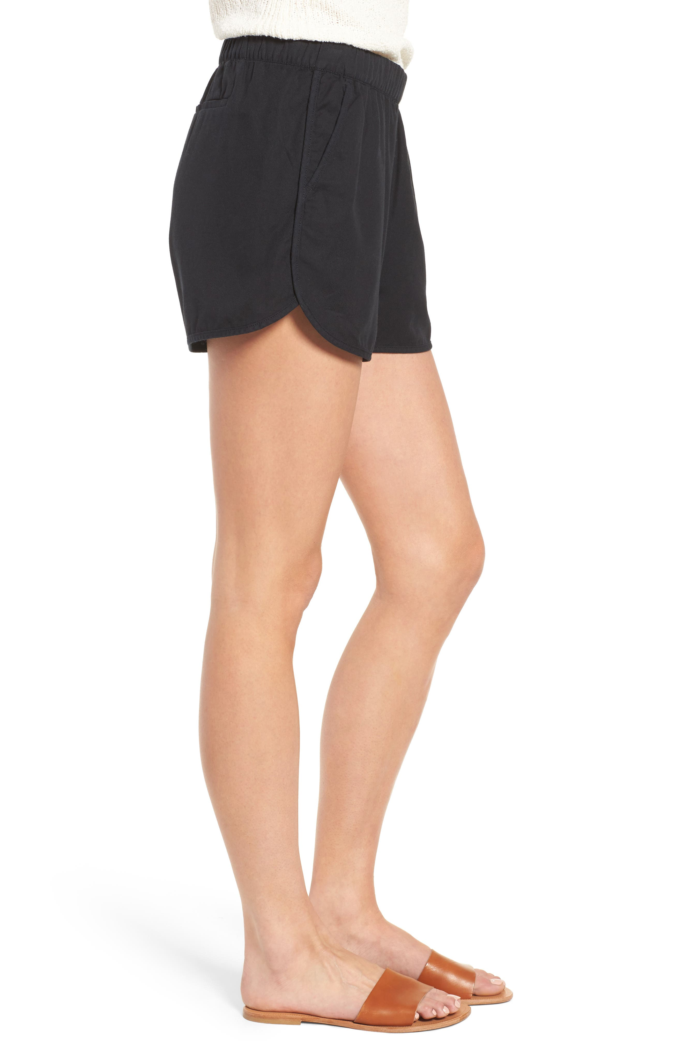 MADEWELL,                             Pull-On Shorts,                             Alternate thumbnail 3, color,                             001
