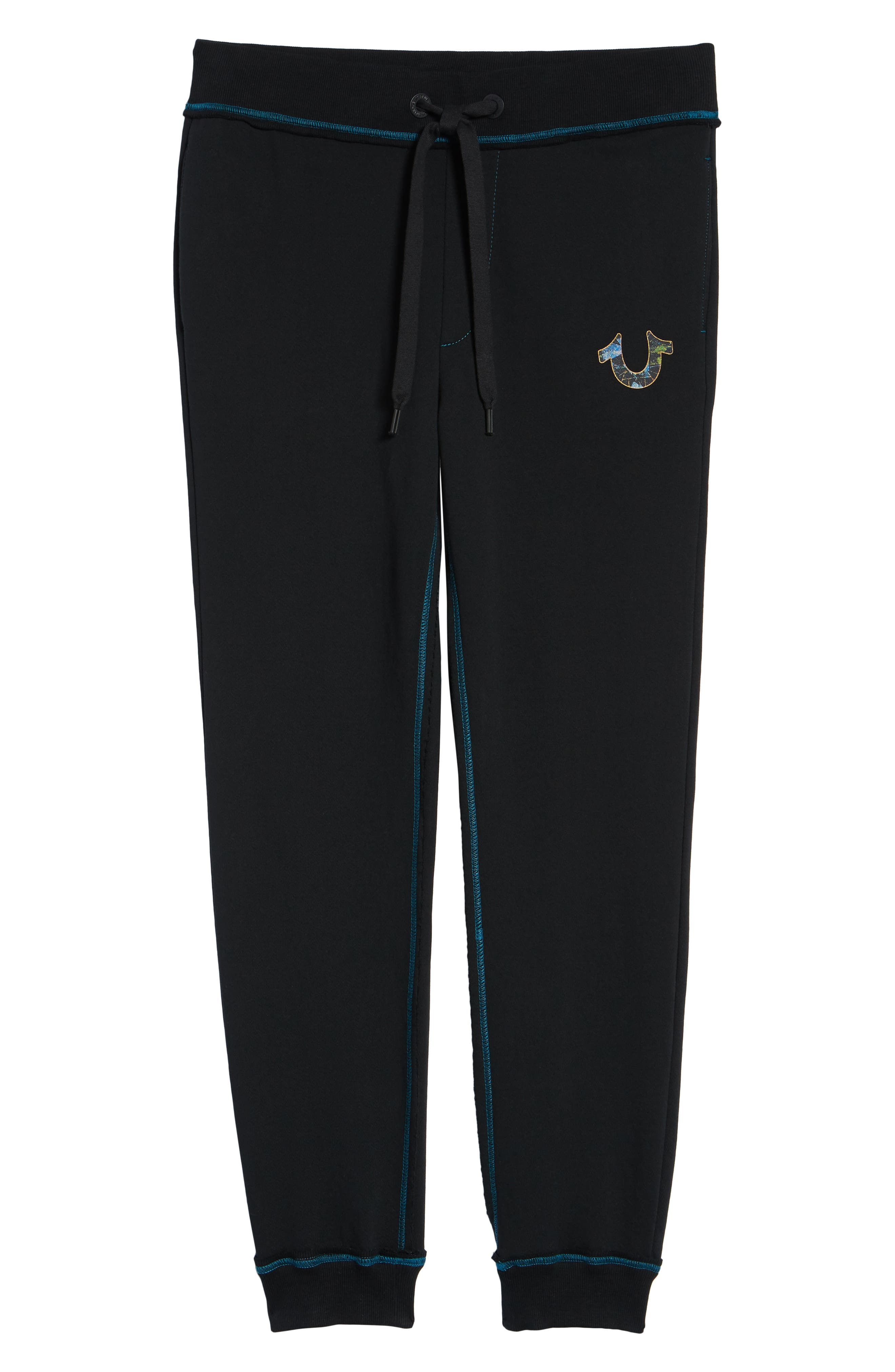 Stained Glass Logo Sweatpants,                             Alternate thumbnail 6, color,                             TRUE BLACK
