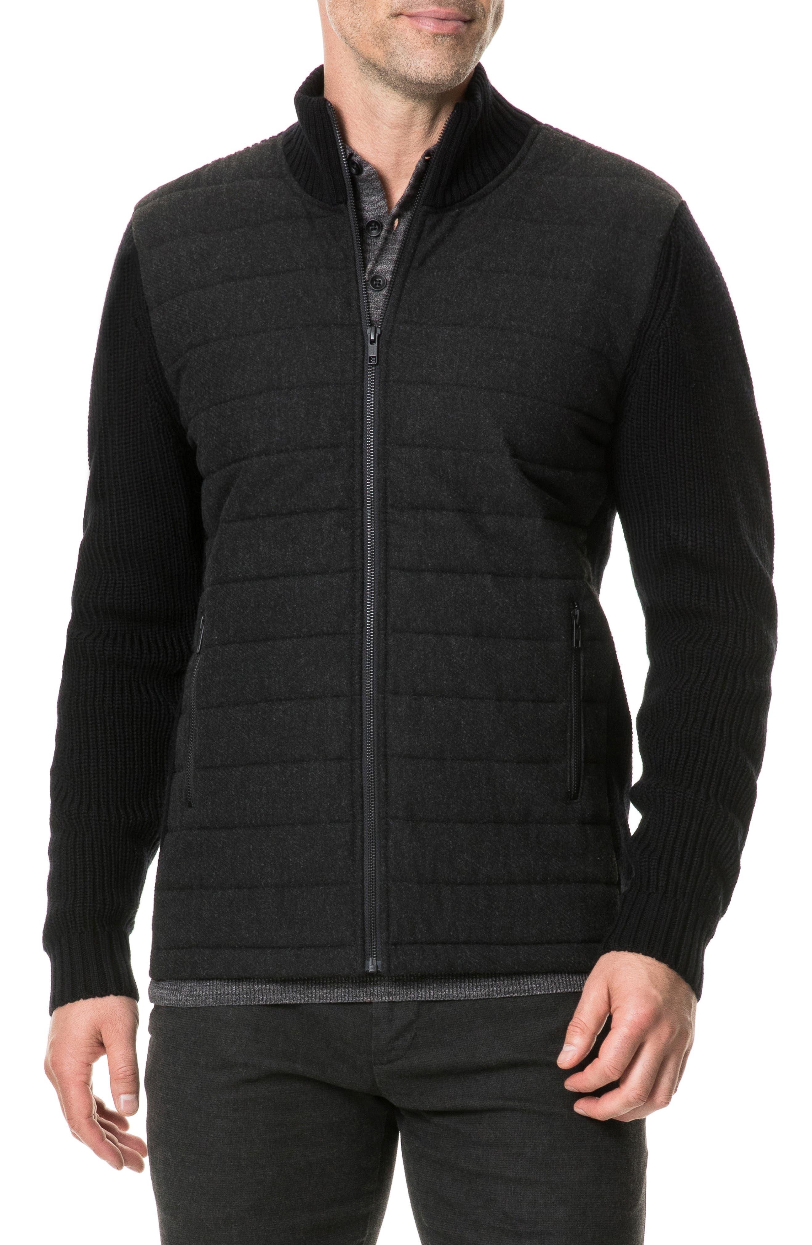 Greerton Regular Fit Zip Sweater,                             Main thumbnail 1, color,                             ONYX