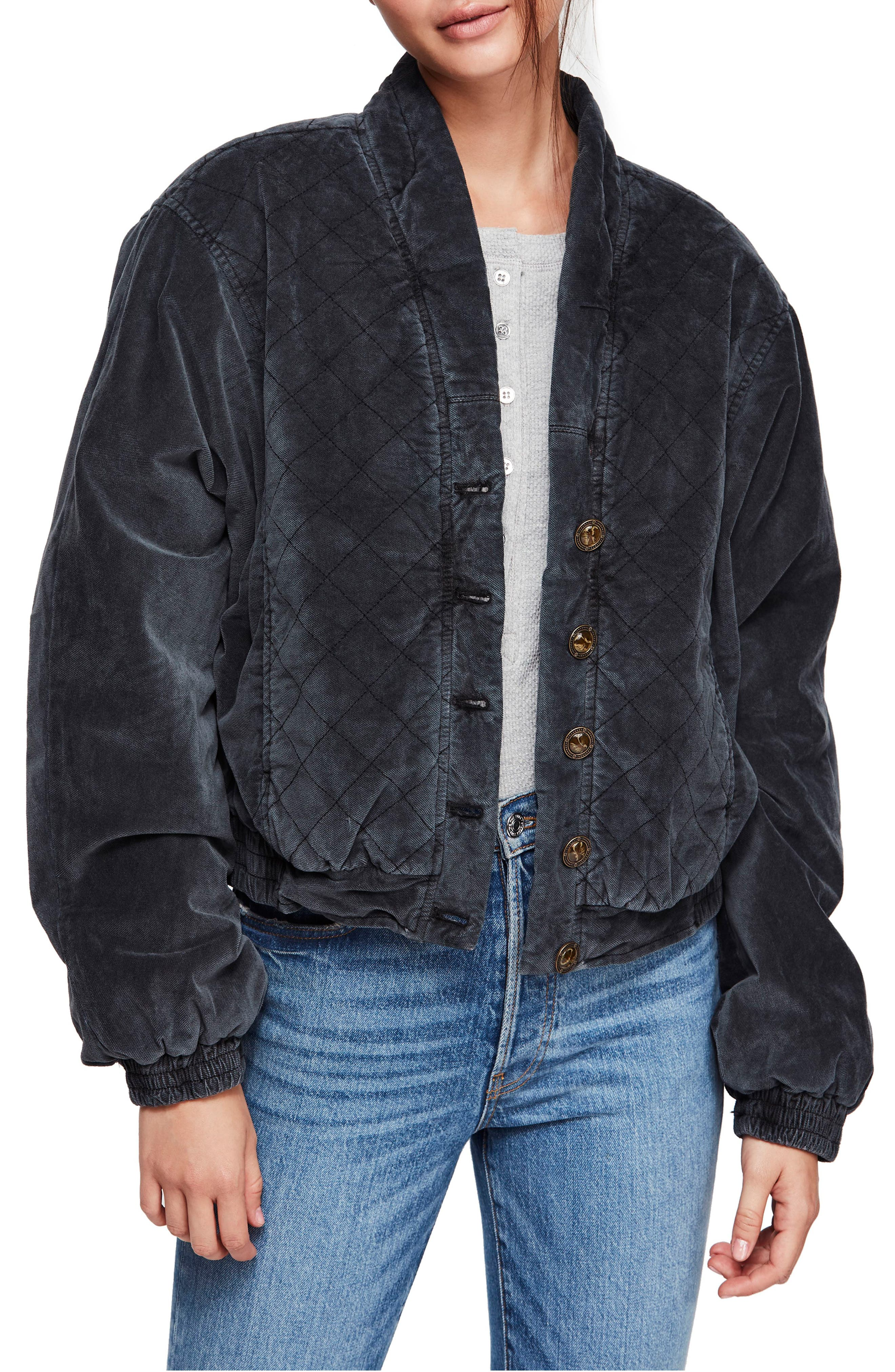 Main Squeeze Quilted Jacket,                             Main thumbnail 1, color,                             BLACK