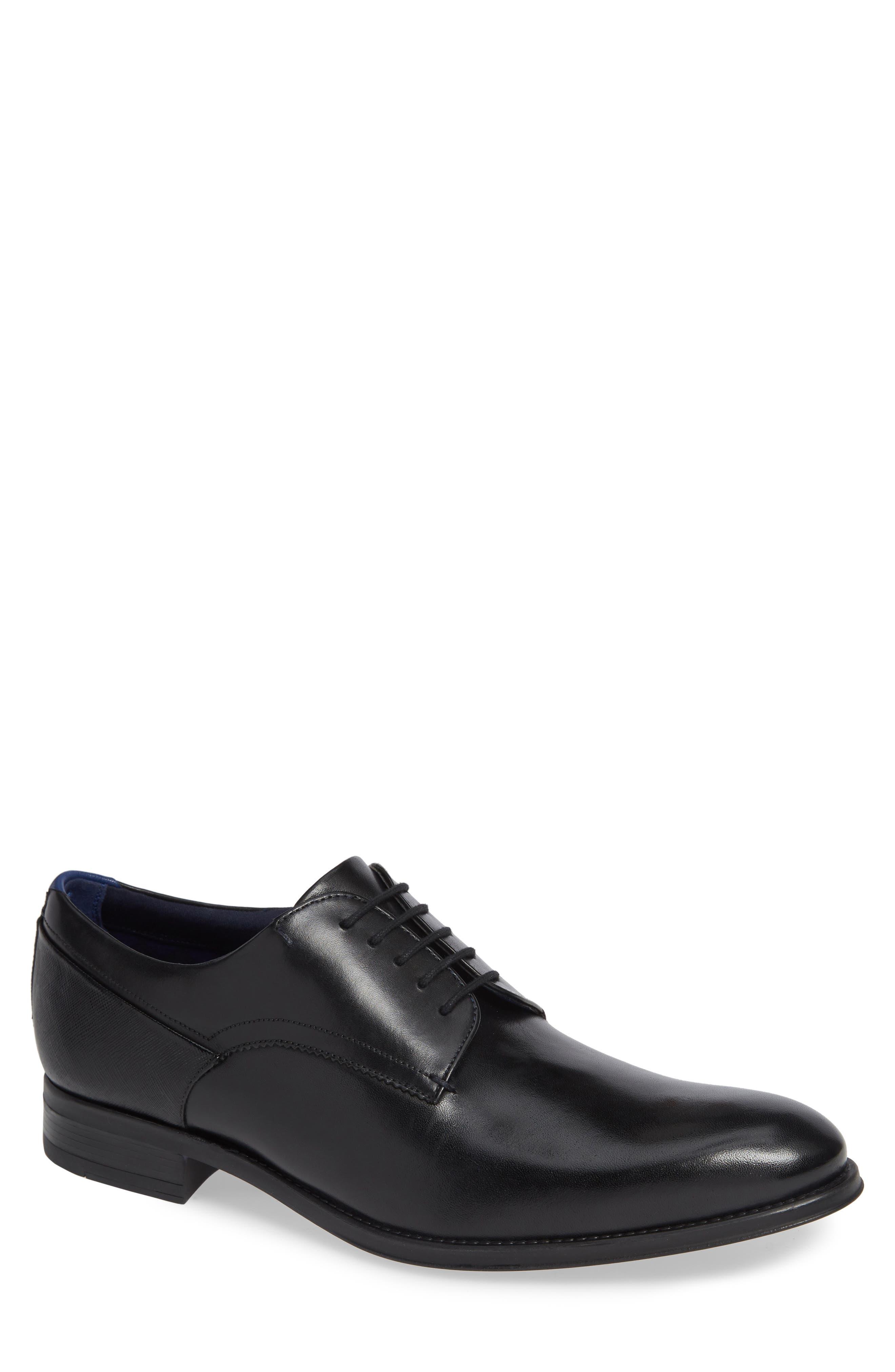 Jusdim Plain Toe Derby,                         Main,                         color, BLACK