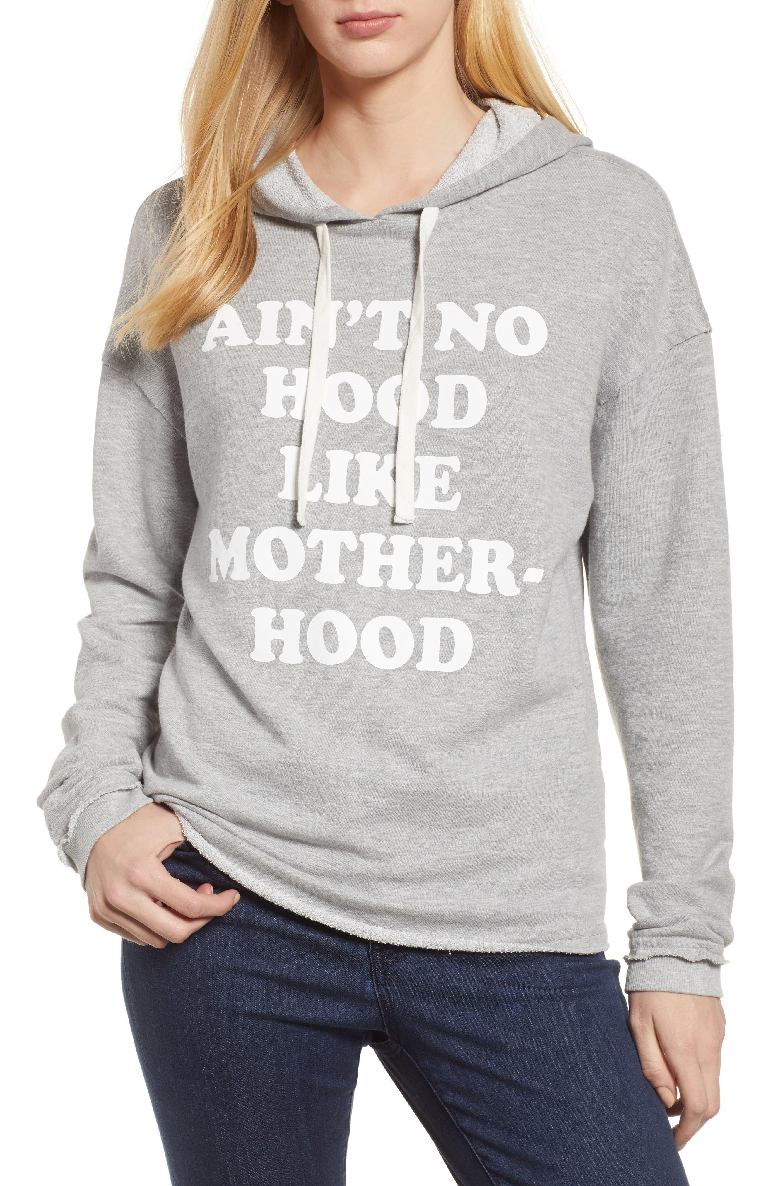 Off Duty Ain't No Hood Like Motherhood Hoodie,                         Main,                         color, 030