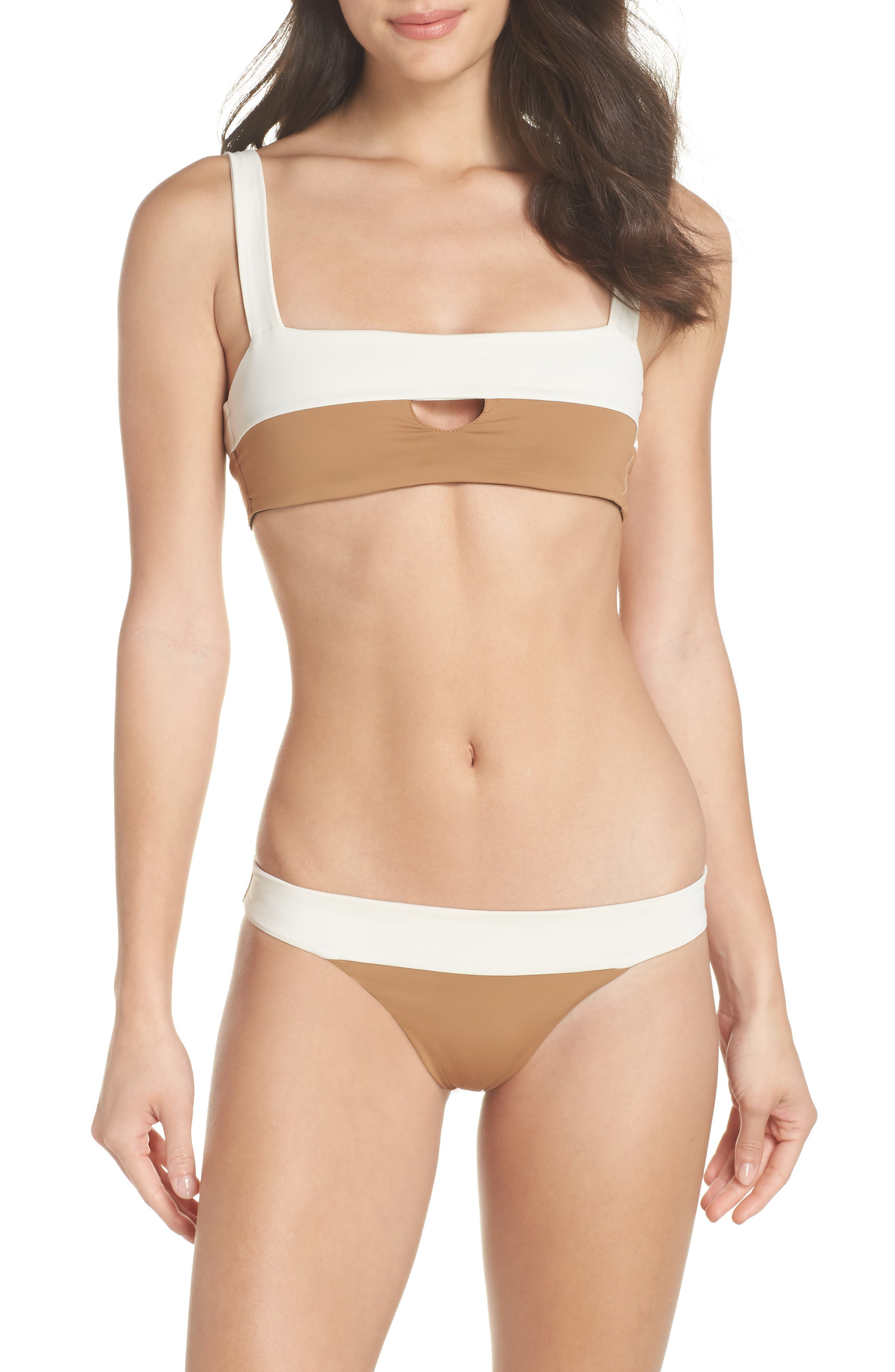 Reversible Bikini Bottom,                             Alternate thumbnail 10, color,                             CREAM/ BLACK/ CAMEL