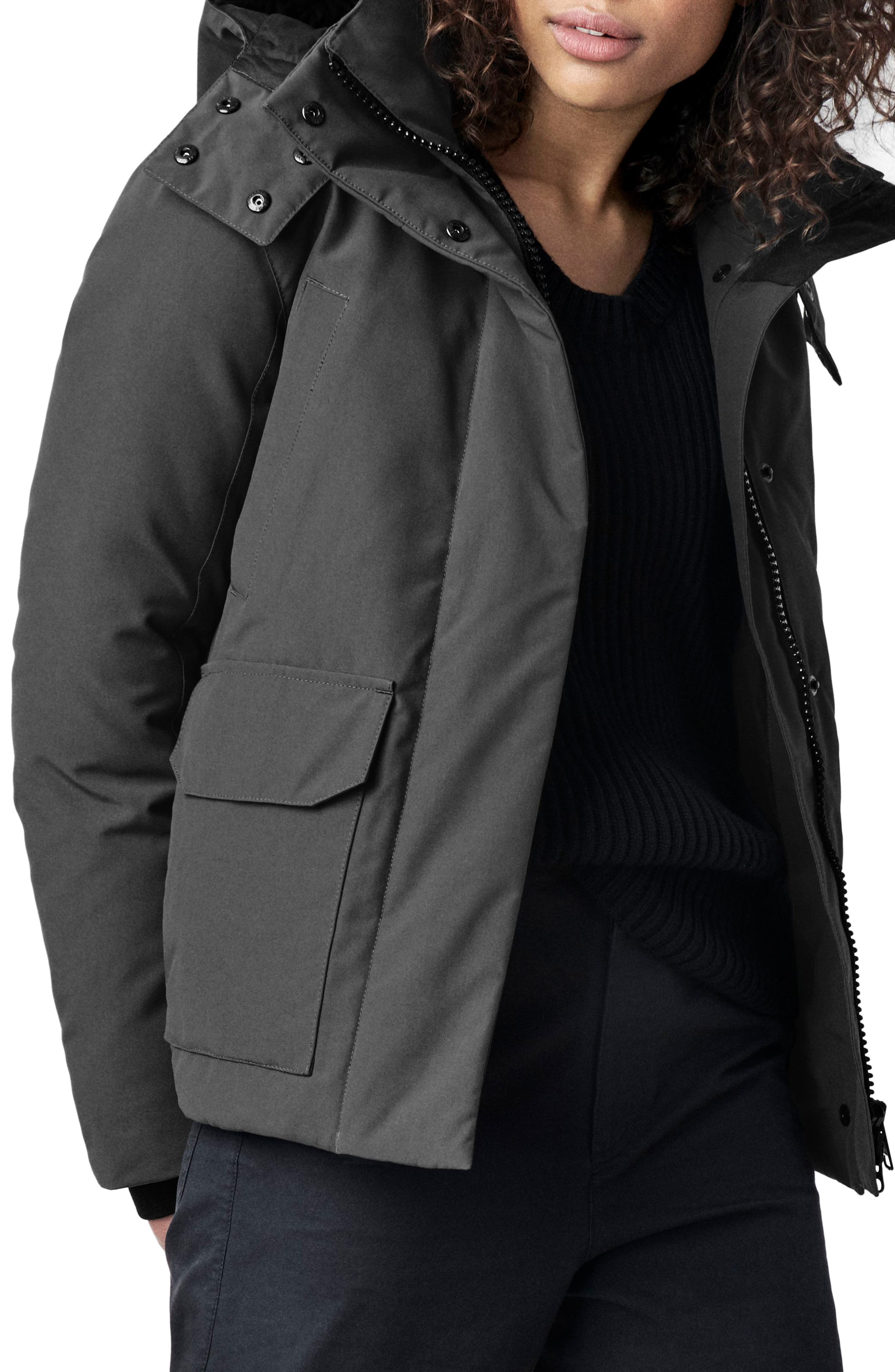 Canada Goose Blakely Water Resistant 625 Fill Power Down Parka, (14-16) - Grey