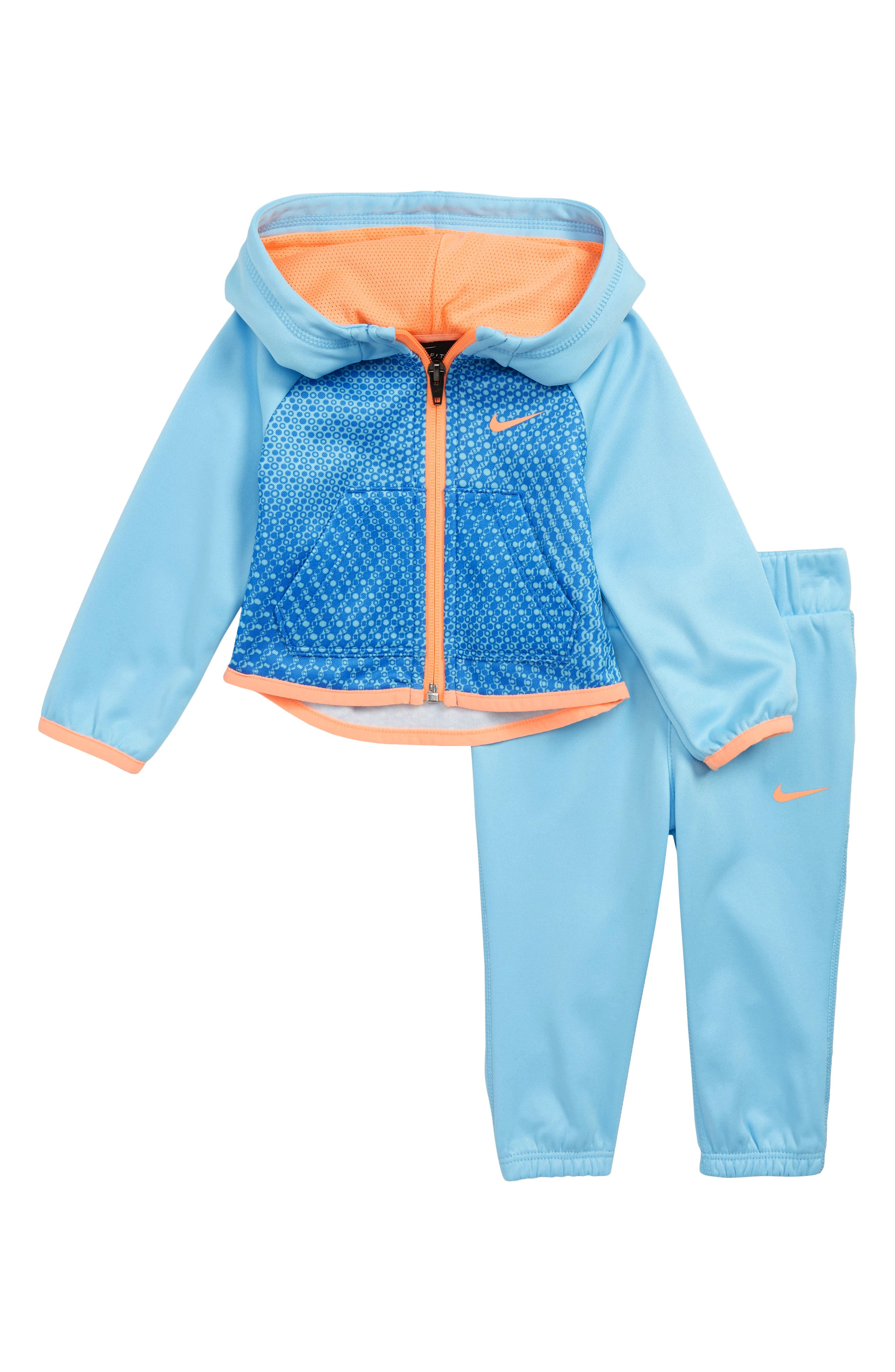 Therma Hoodie & Pants Set,                             Main thumbnail 1, color,                             BLUE CHILL