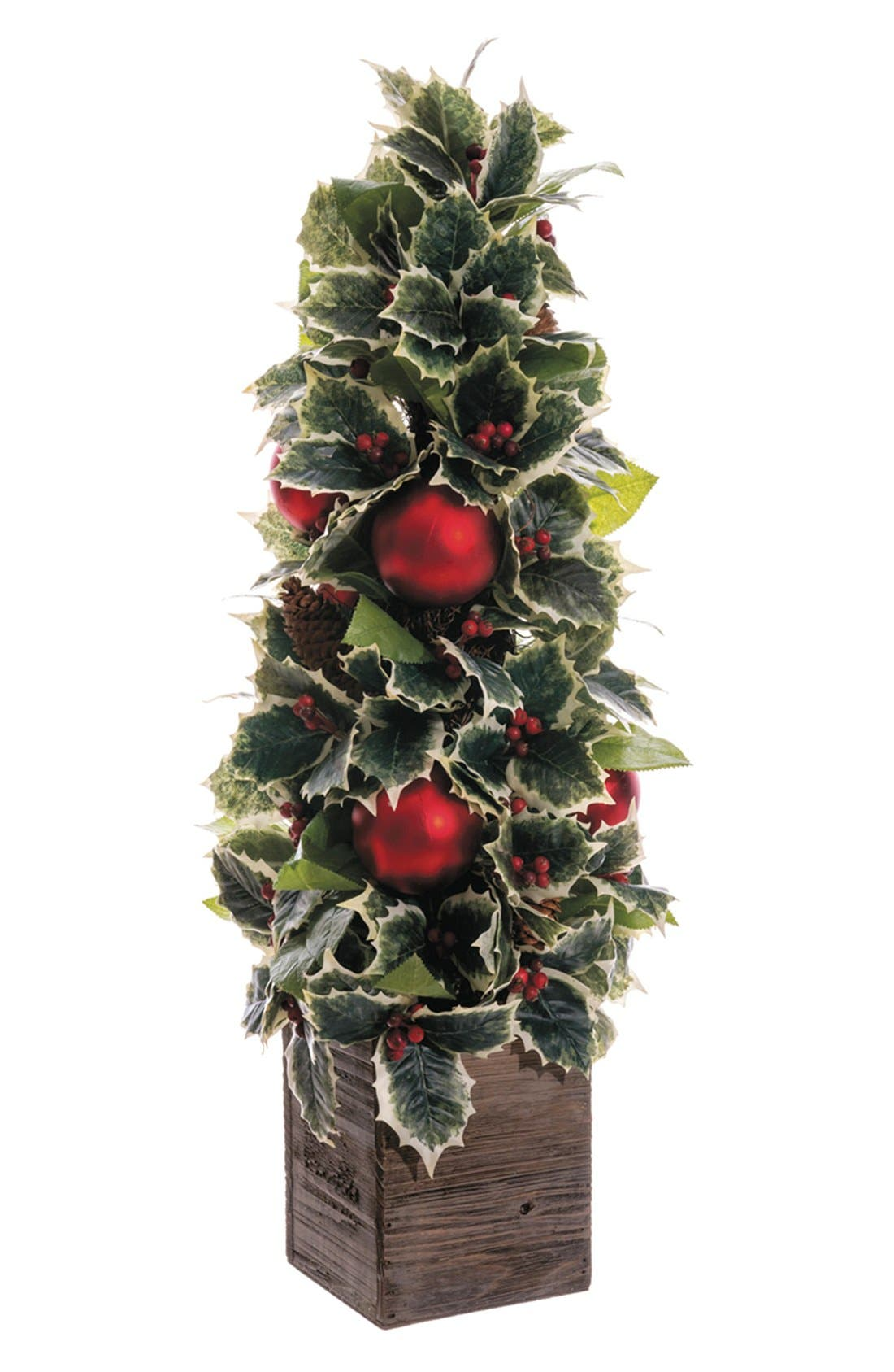 Holly & Ornament Topiary, Main, color, 300