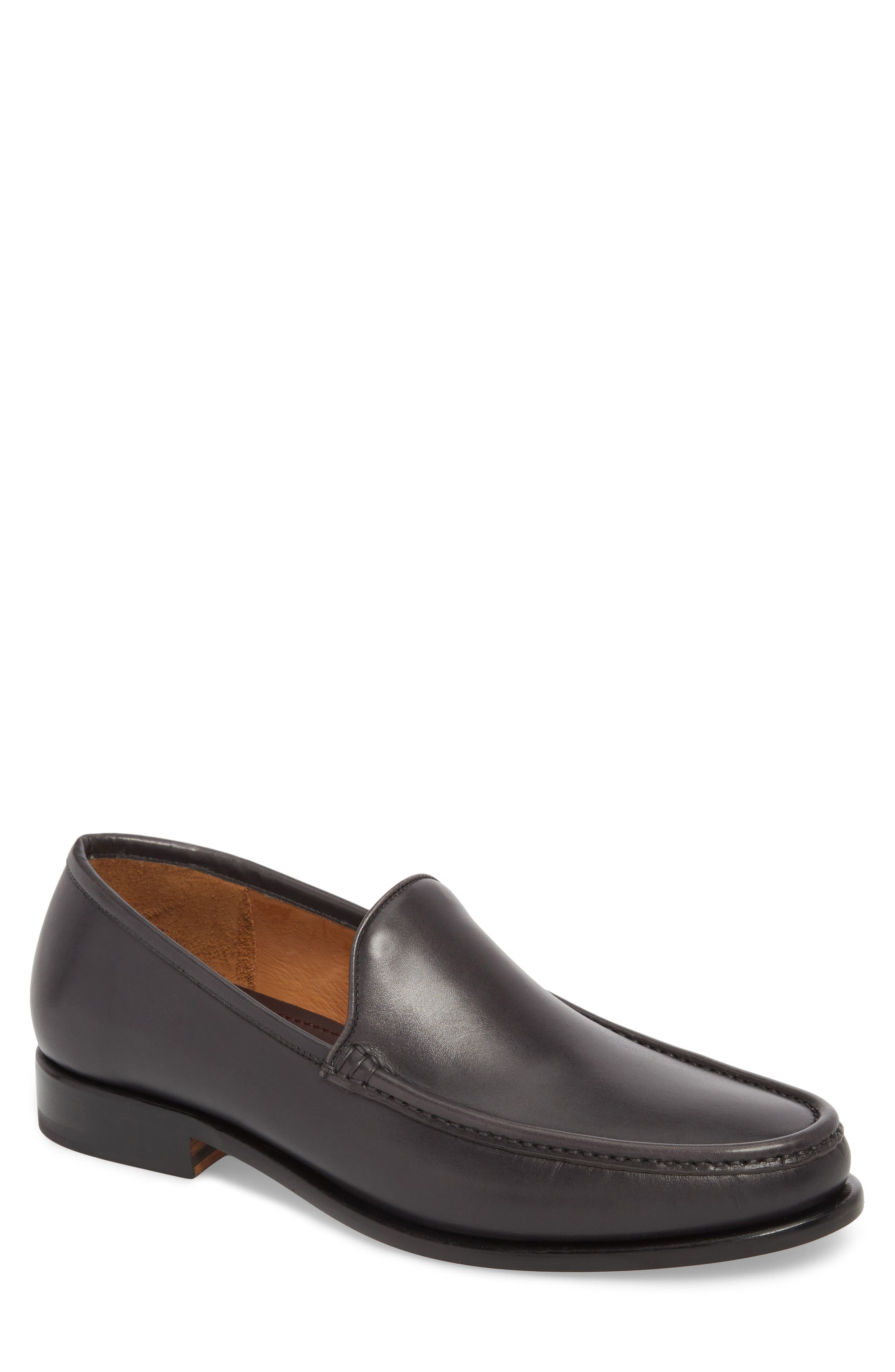 Ello Moc Toe Loafer,                         Main,                         color, DARK GREY