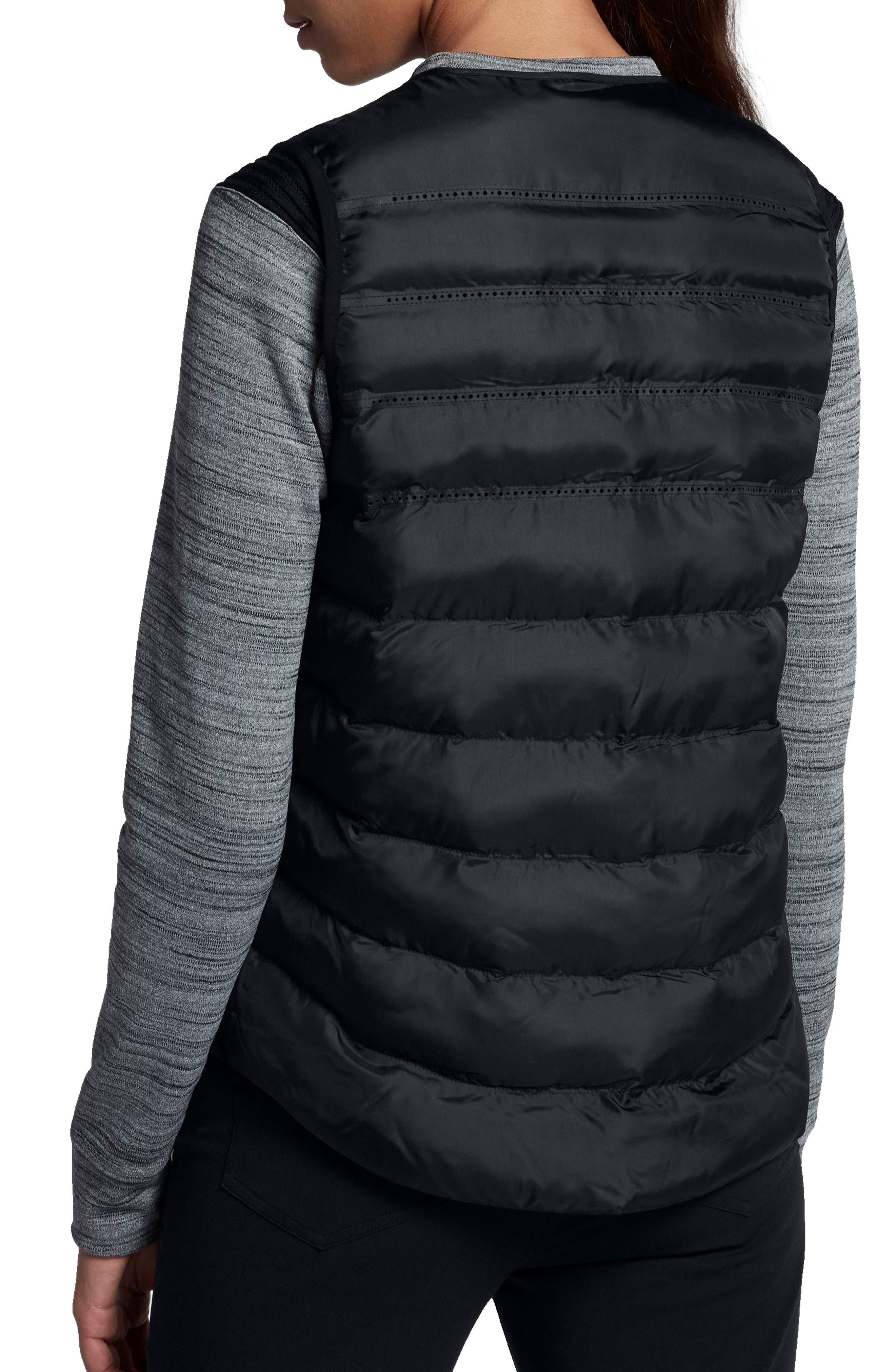 AeroLoft Water Repellent Running Vest,                             Alternate thumbnail 2, color,                             010
