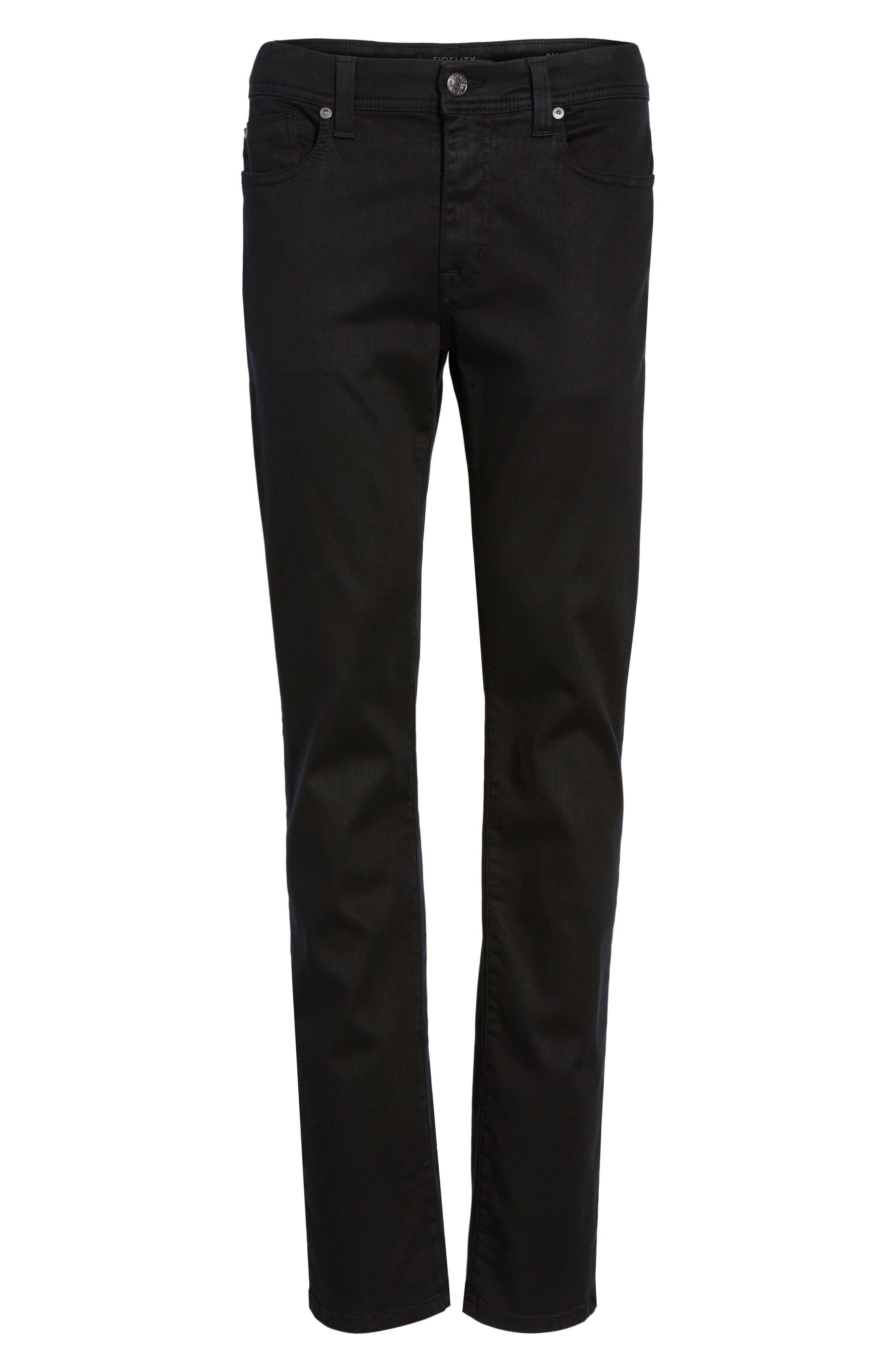 Jimmy Lumina Slim Straight Leg Twill Pants,                             Alternate thumbnail 6, color,                             BLACK