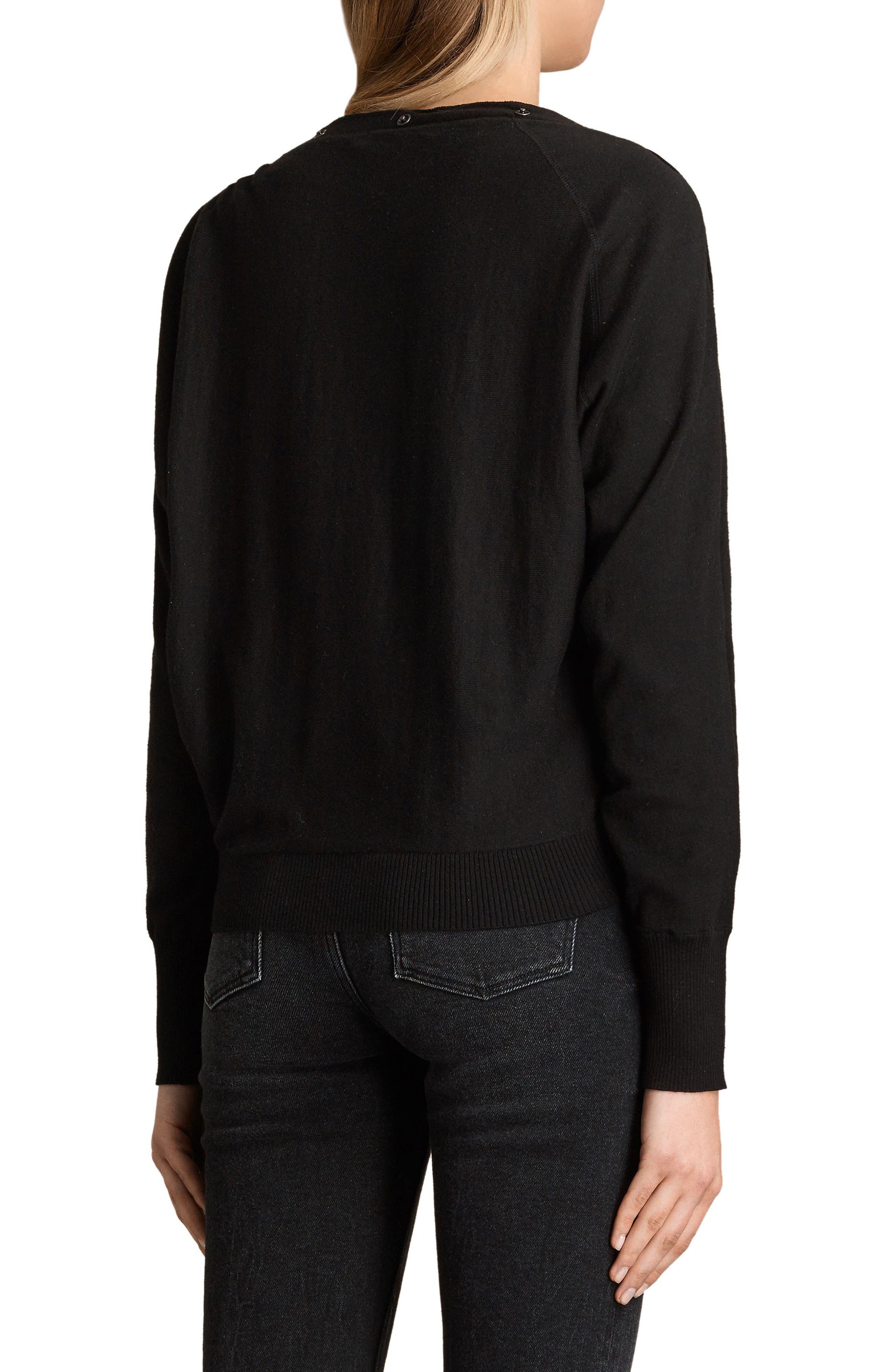 ALLSAINTS,                             Elle Sweater,                             Alternate thumbnail 2, color,                             BLACK