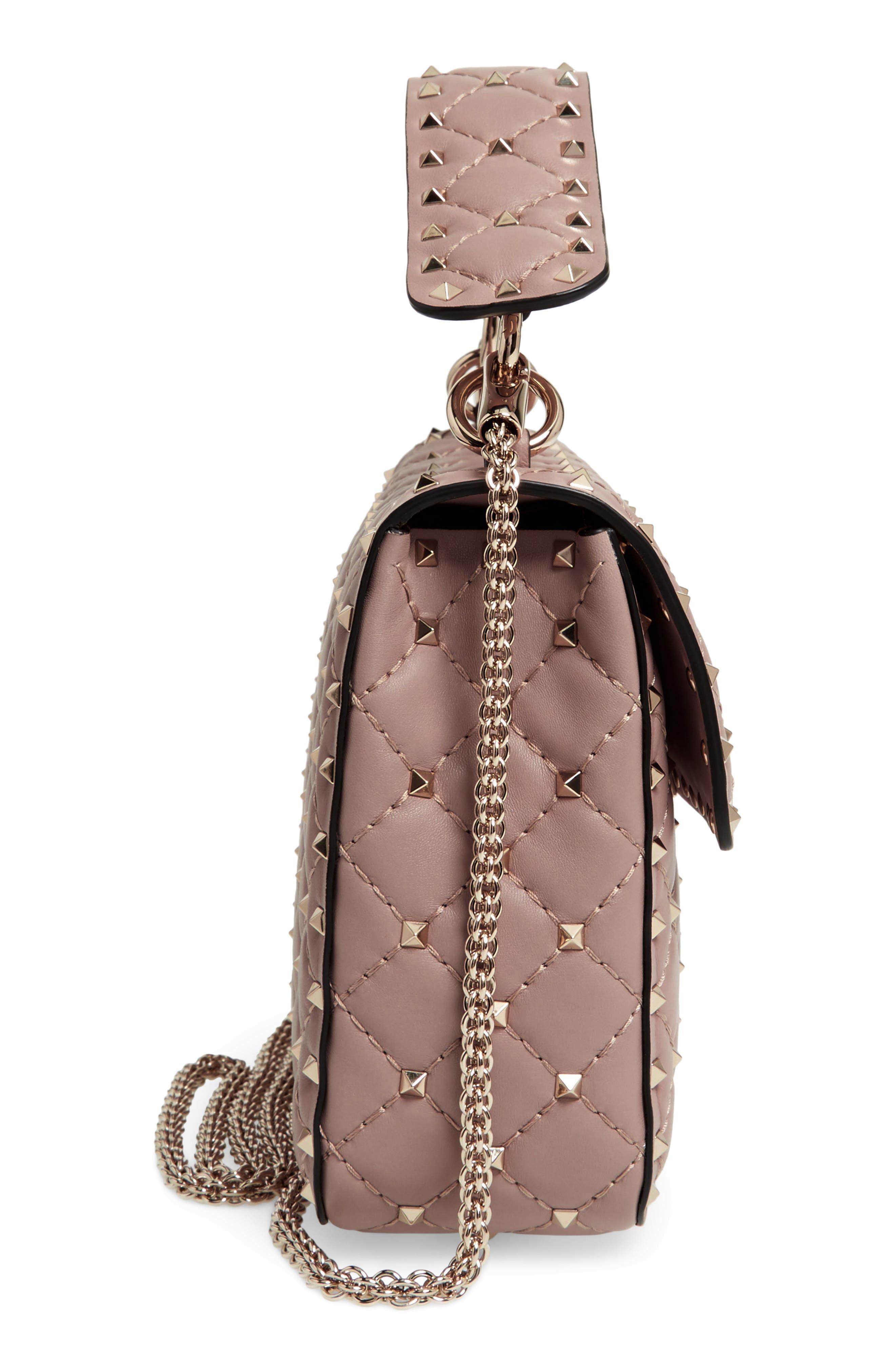Medium Rockstud Spike Crossbody Bag,                             Alternate thumbnail 10, color,