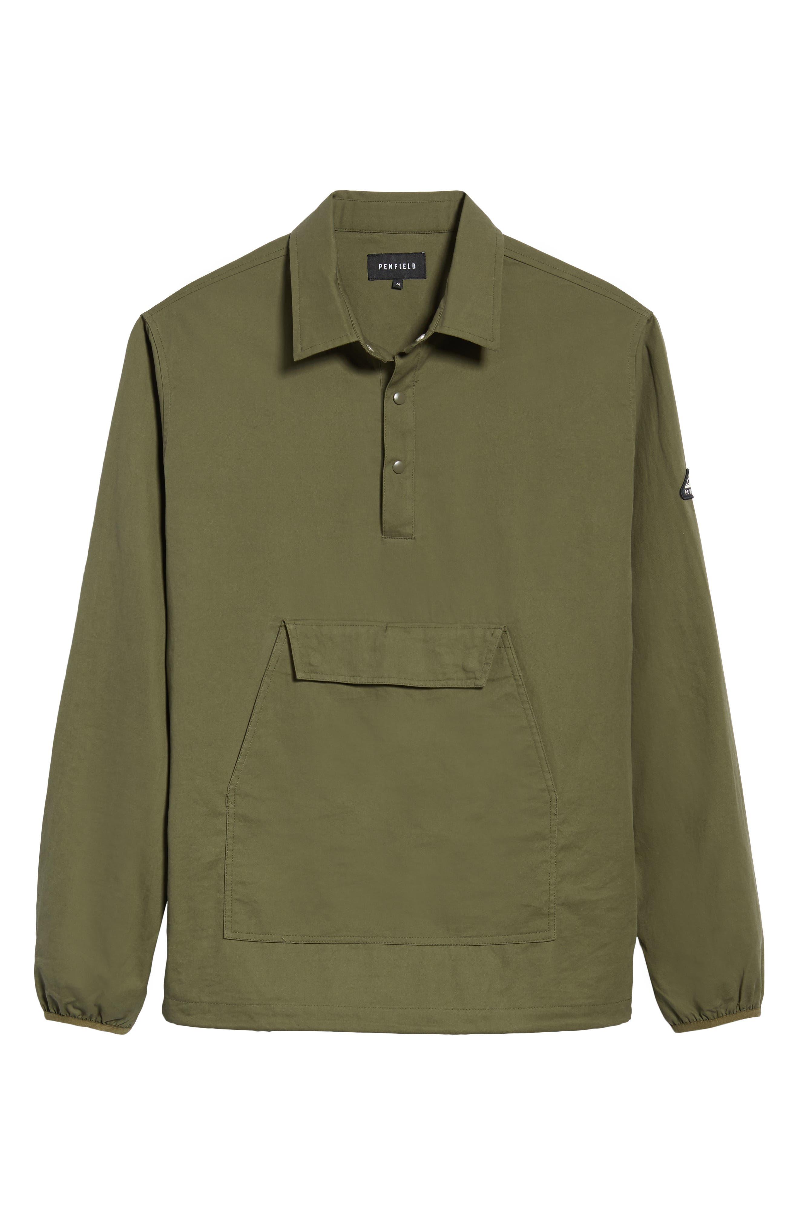 Adelanto Snap Pocket Shirt,                             Alternate thumbnail 6, color,                             DARK OLIVE