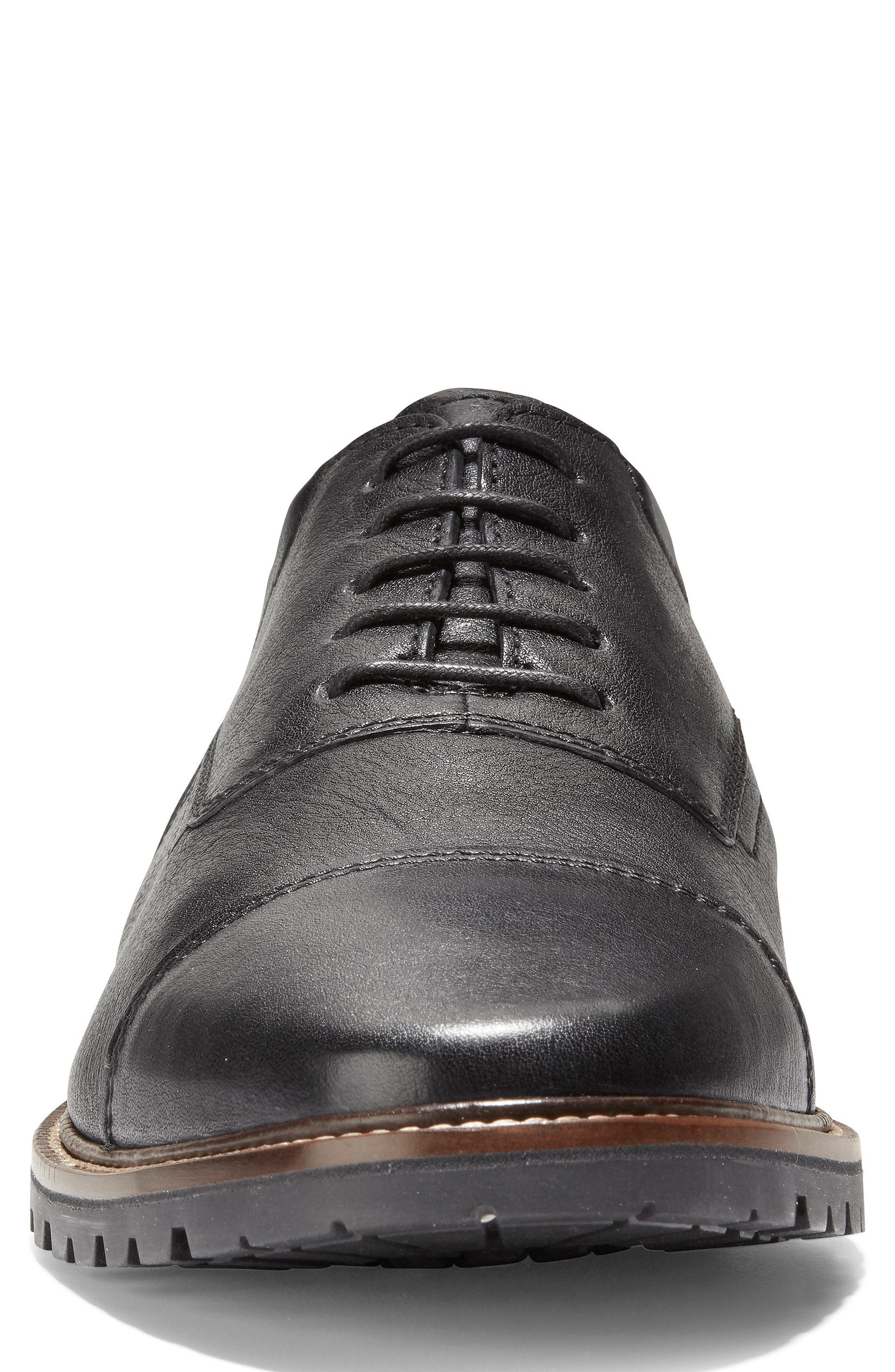 Richardson Cap Toe Derby,                             Alternate thumbnail 4, color,                             BLACK LEATHER