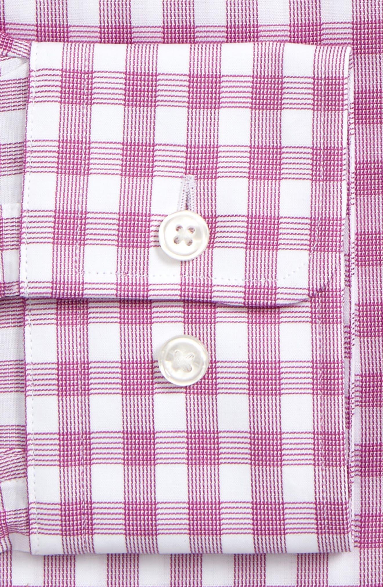 Sharp Fit Plaid Dress Shirt,                             Alternate thumbnail 2, color,