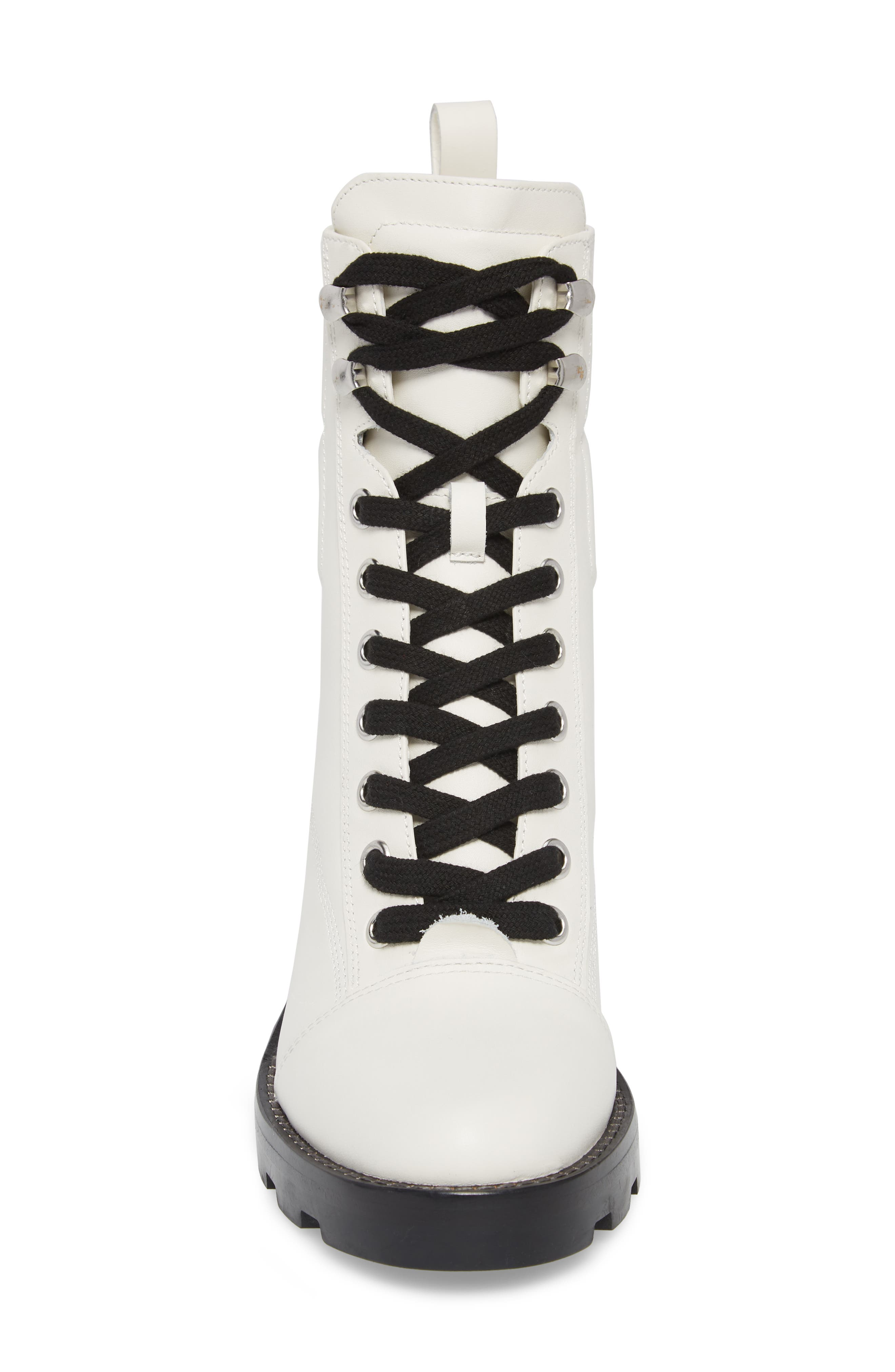 Warid Moto Bootie,                             Alternate thumbnail 4, color,                             IVORY LEATHER