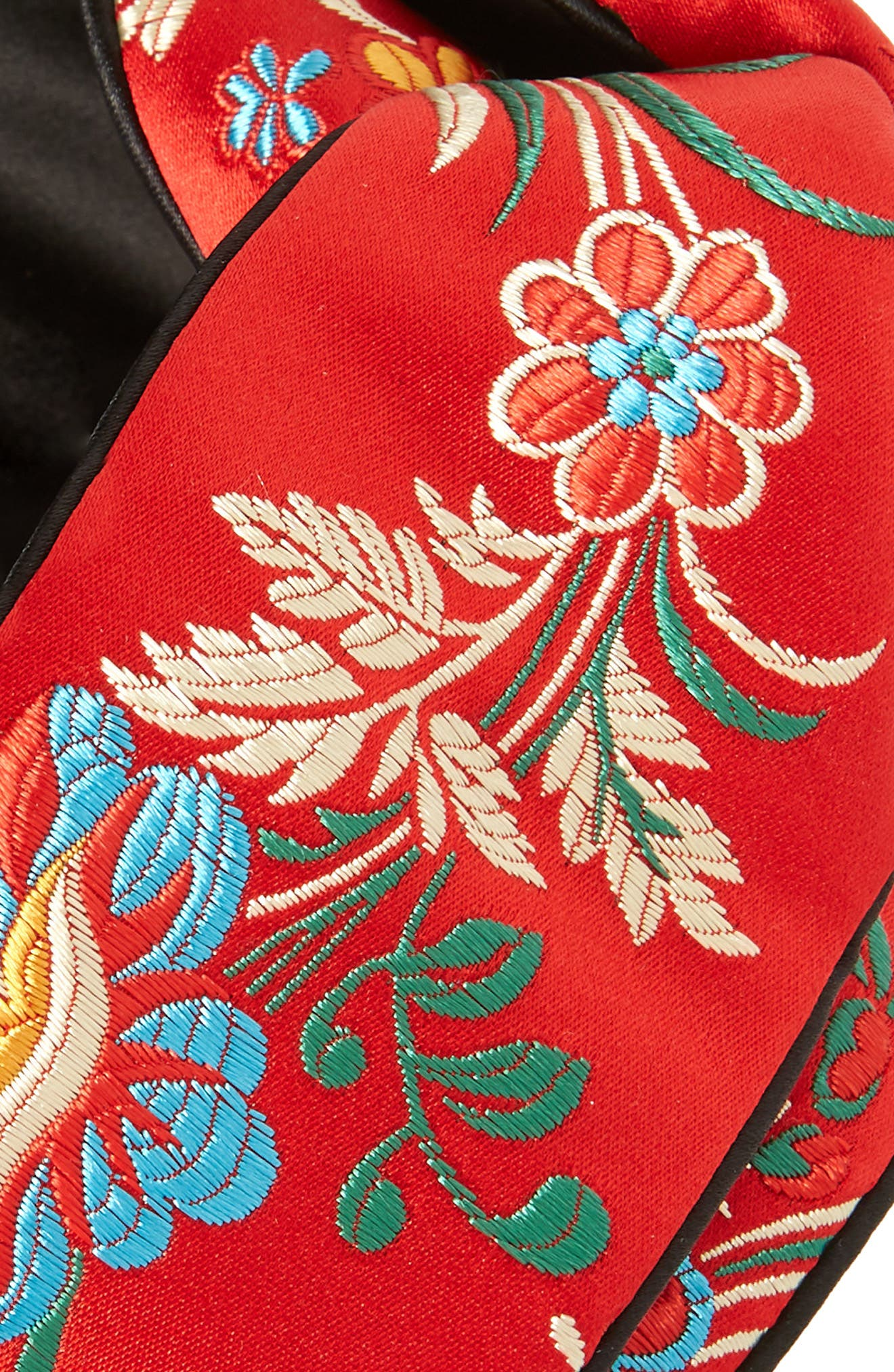 Aghila Embroidered Headband,                             Alternate thumbnail 2, color,                             FLAME