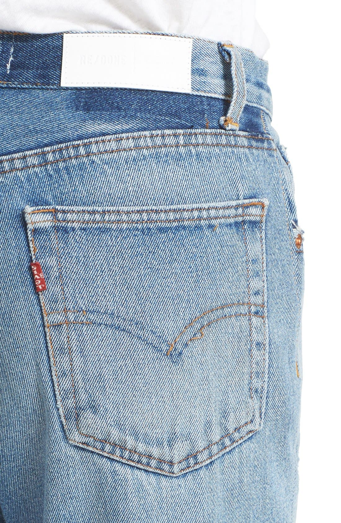 RE/DONE,                             Reconstructed High Waist Ankle Crop Jeans,                             Alternate thumbnail 2, color,                             400