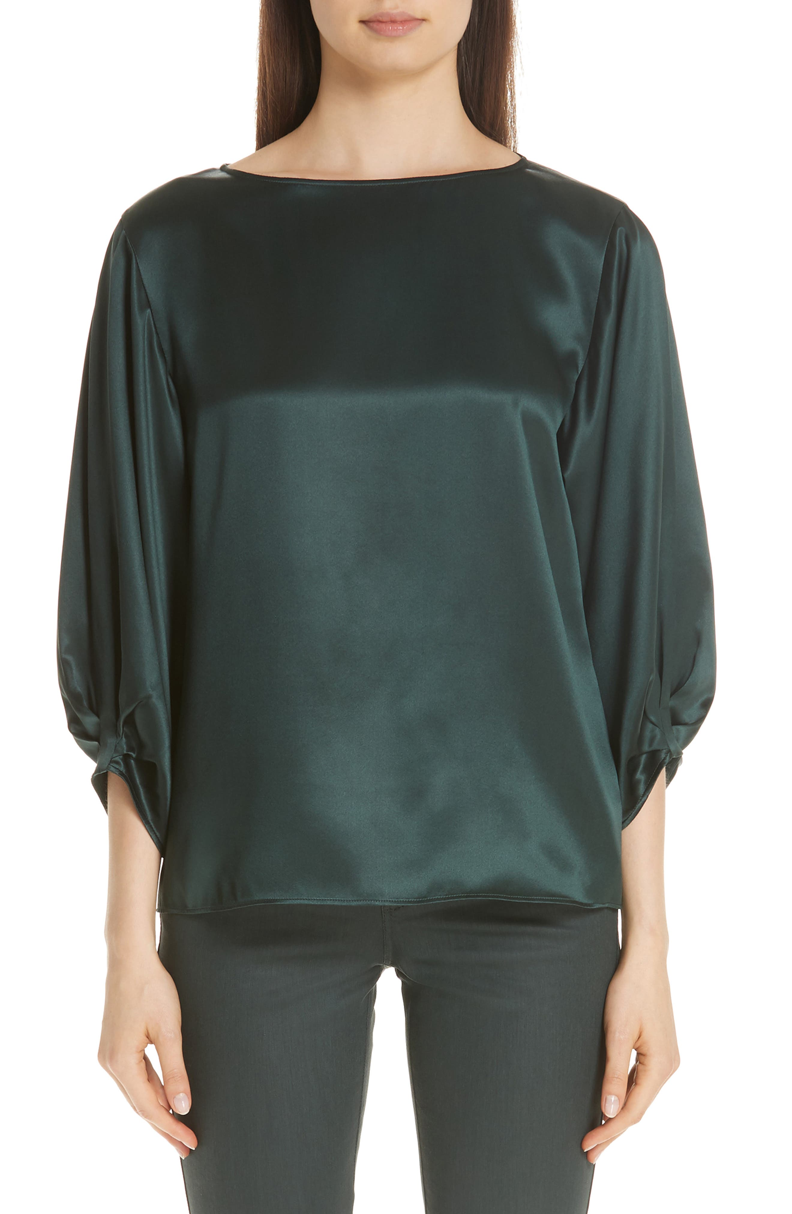 Wynona Silk Charmeuse Blouse,                         Main,                         color, 396