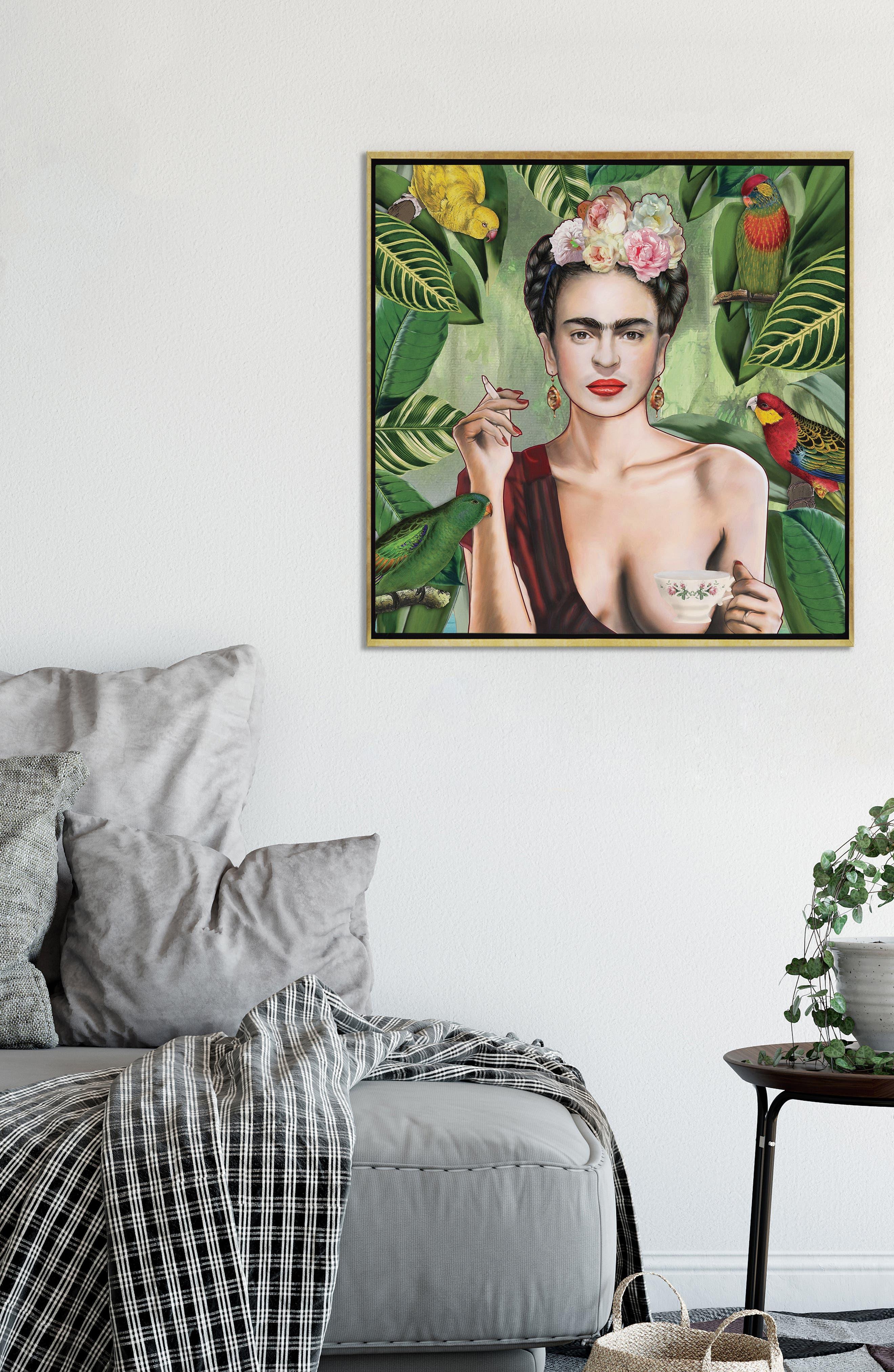 ICANVAS,                             Frida Con Amigos by Nettsch Giclée Print Canvas Art,                             Alternate thumbnail 2, color,                             GREEN
