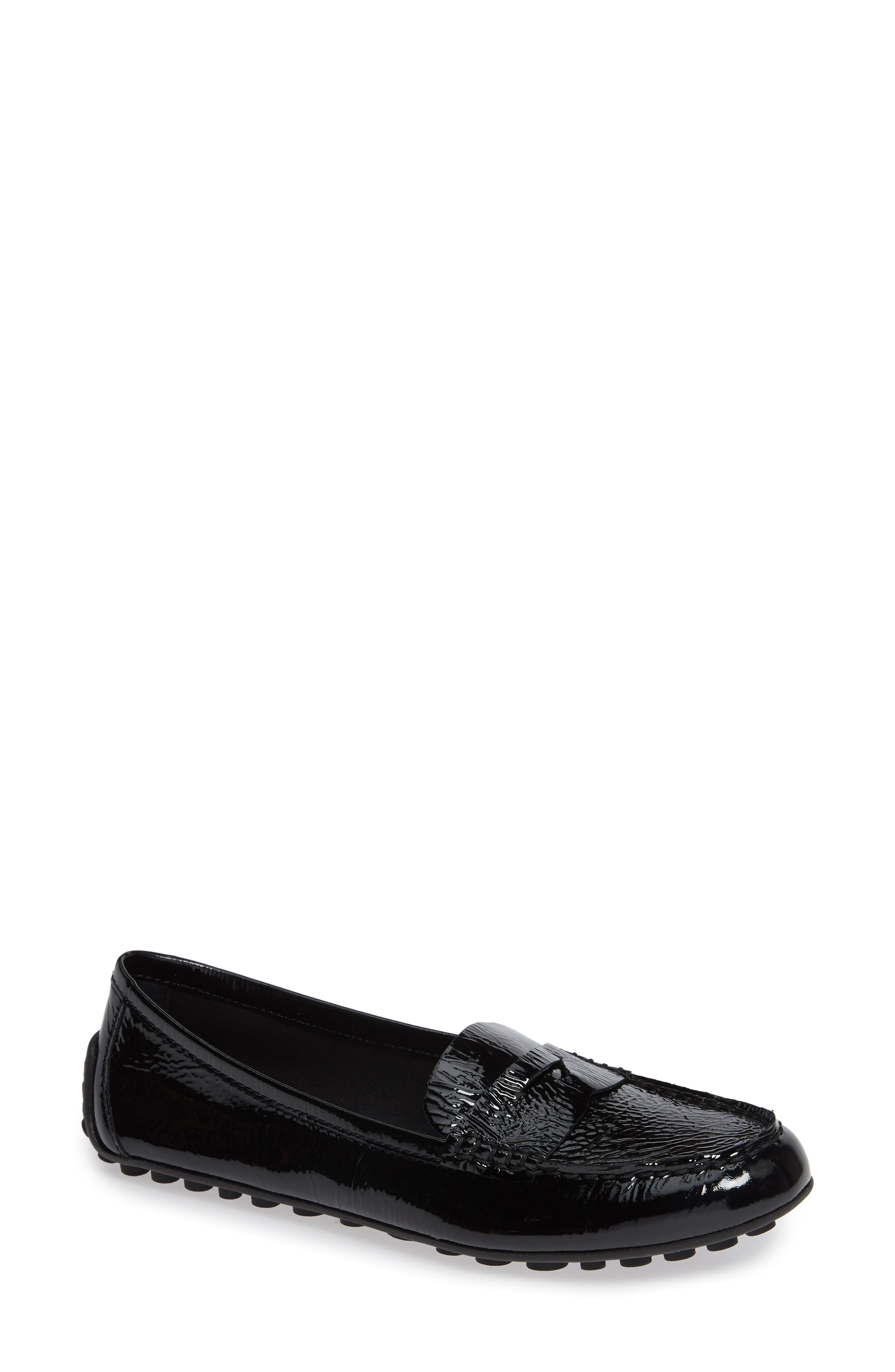 Malena Driving Loafer,                         Main,                         color, BLACK PATENT LEATHER