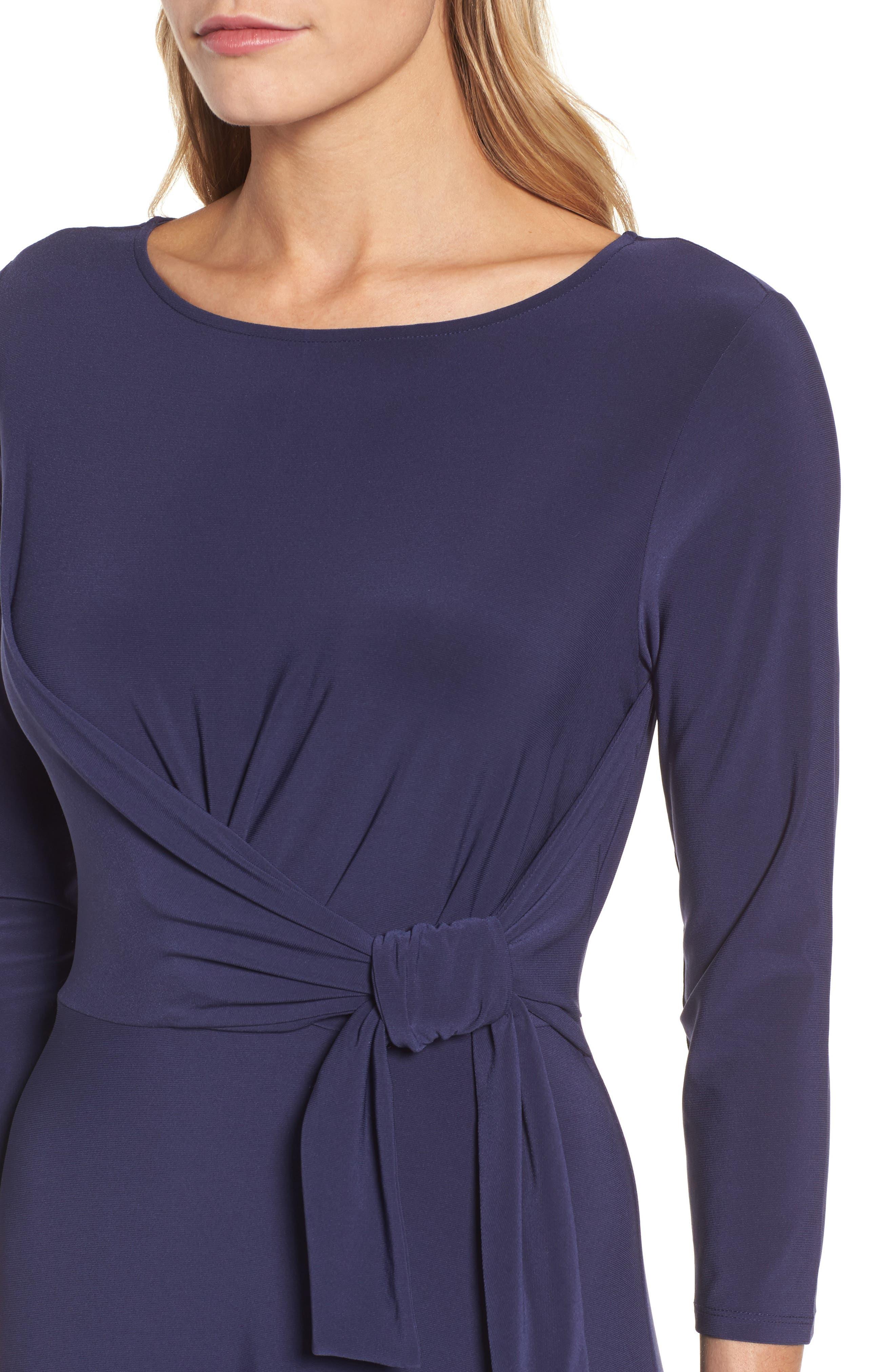 Cahus Faux Wrap Midi Dress,                             Alternate thumbnail 4, color,                             429