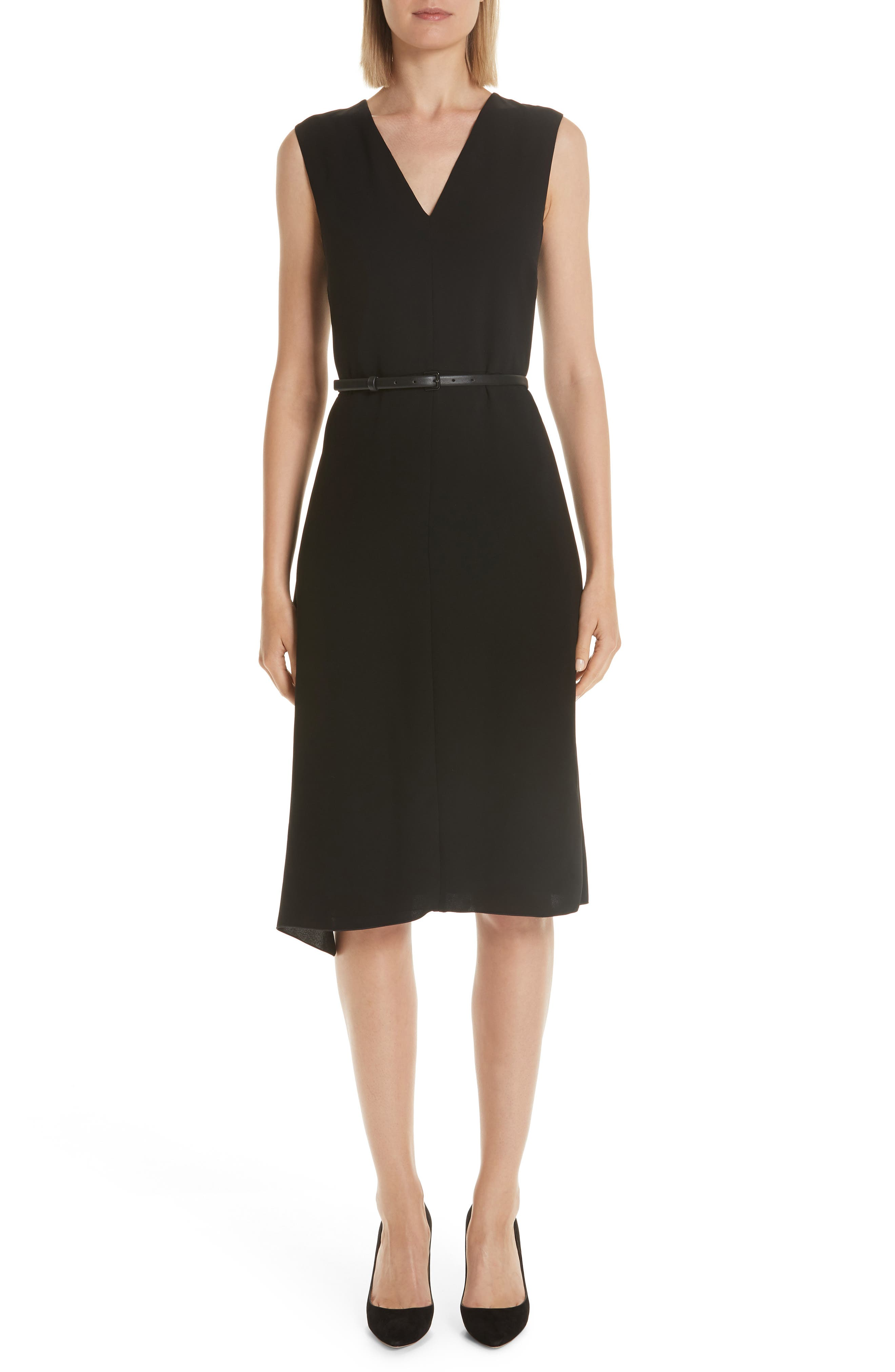Max Mara Robin Ruffle Dress, Black