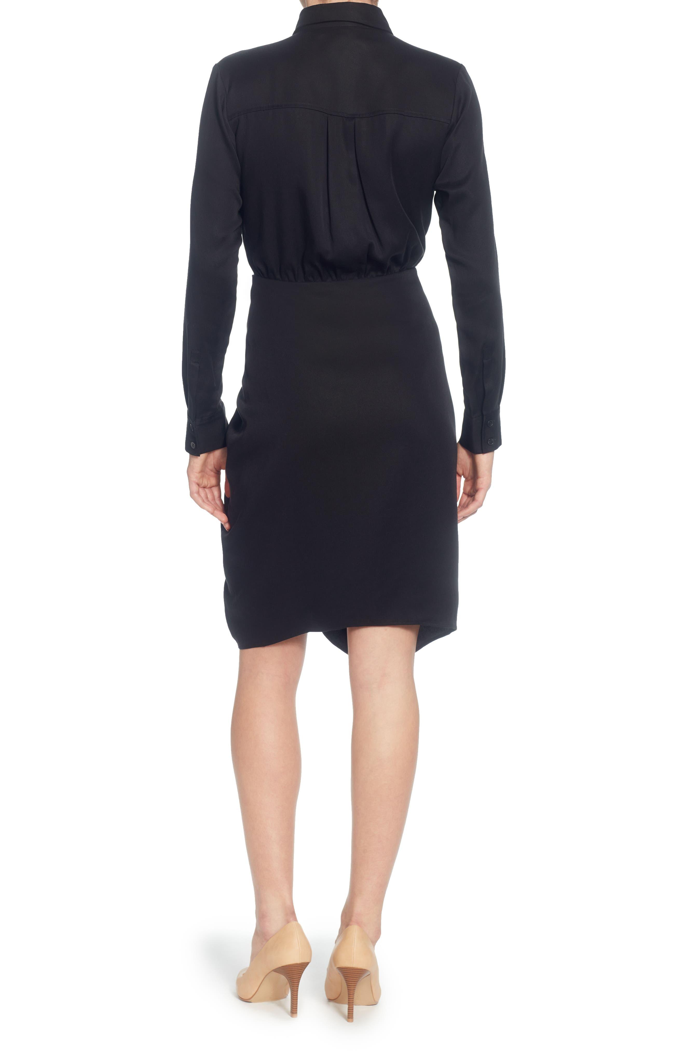 Sloan Tie-Waist Dress,                             Alternate thumbnail 2, color,                             001