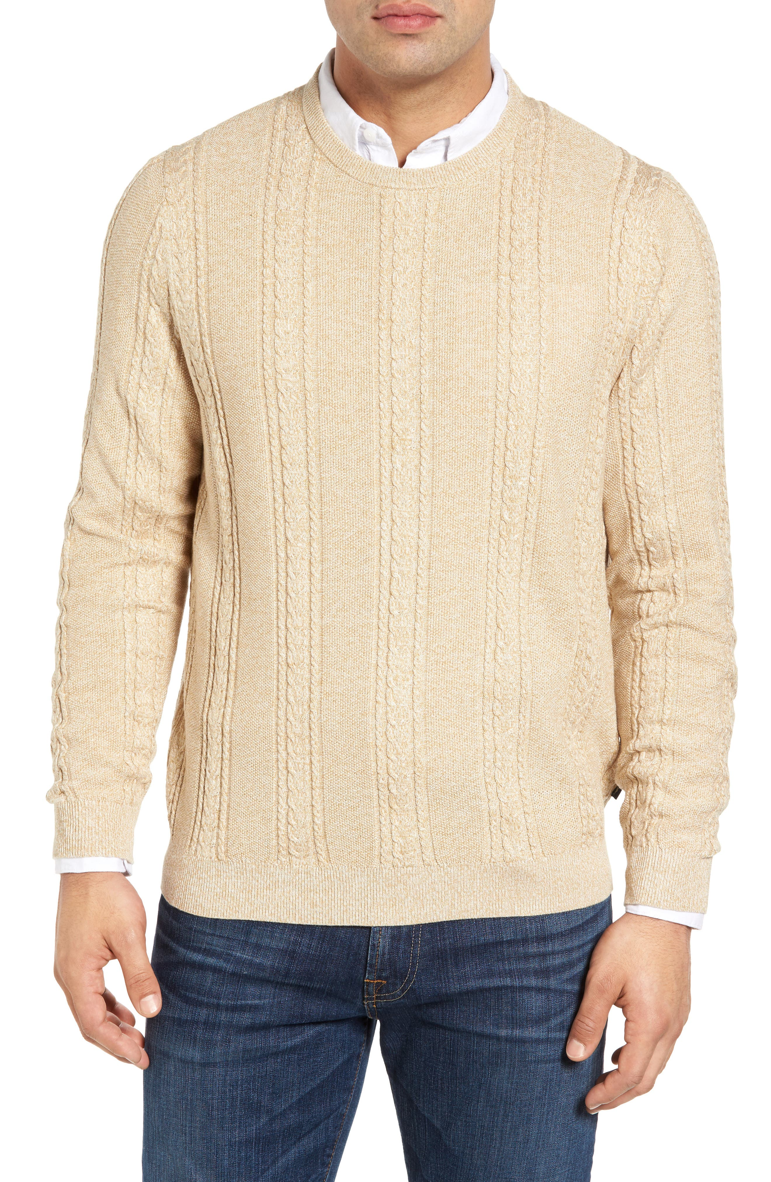 Marled Silk Blend Sweater,                             Main thumbnail 1, color,