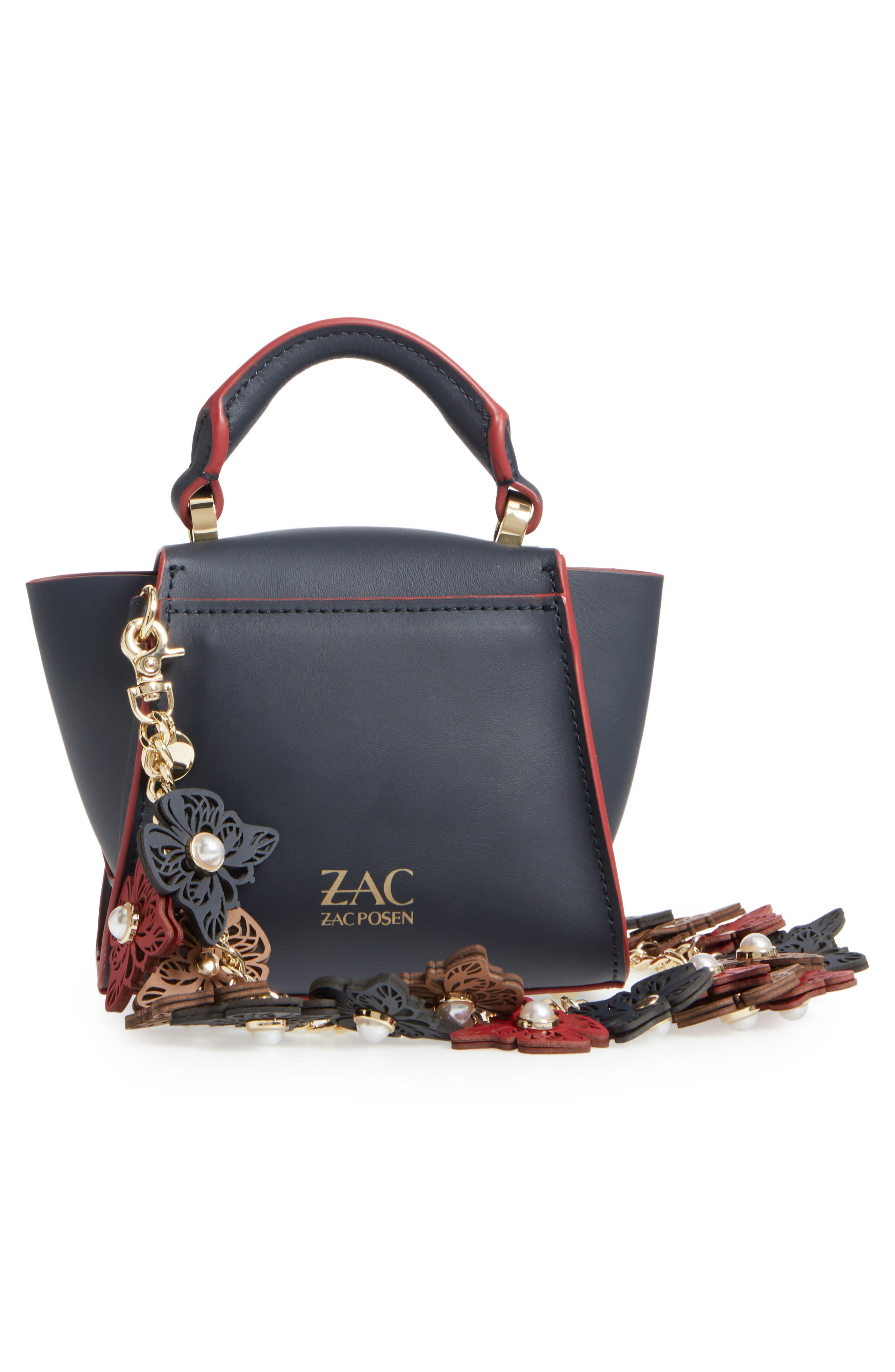 Eartha Iconic Calfskin Leather Satchel with Novelty Strap,                             Alternate thumbnail 4, color,                             410