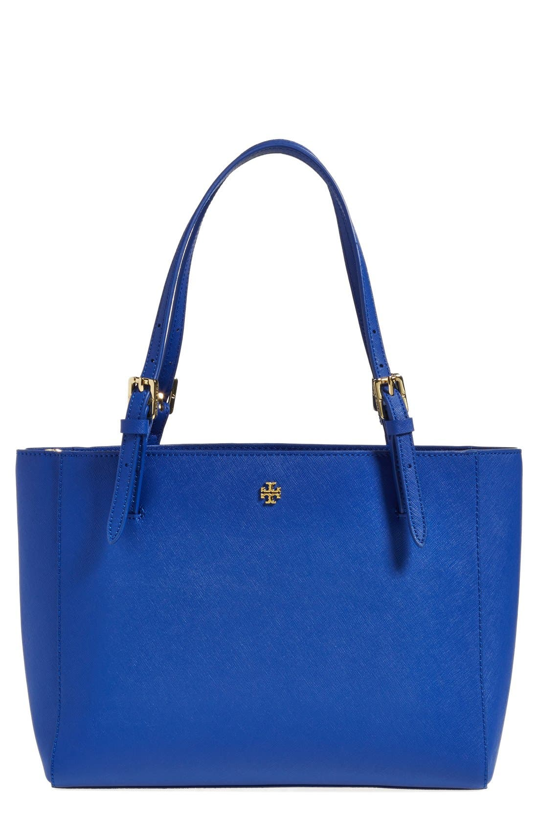 'Small York' Saffiano Leather Buckle Tote,                             Main thumbnail 11, color,