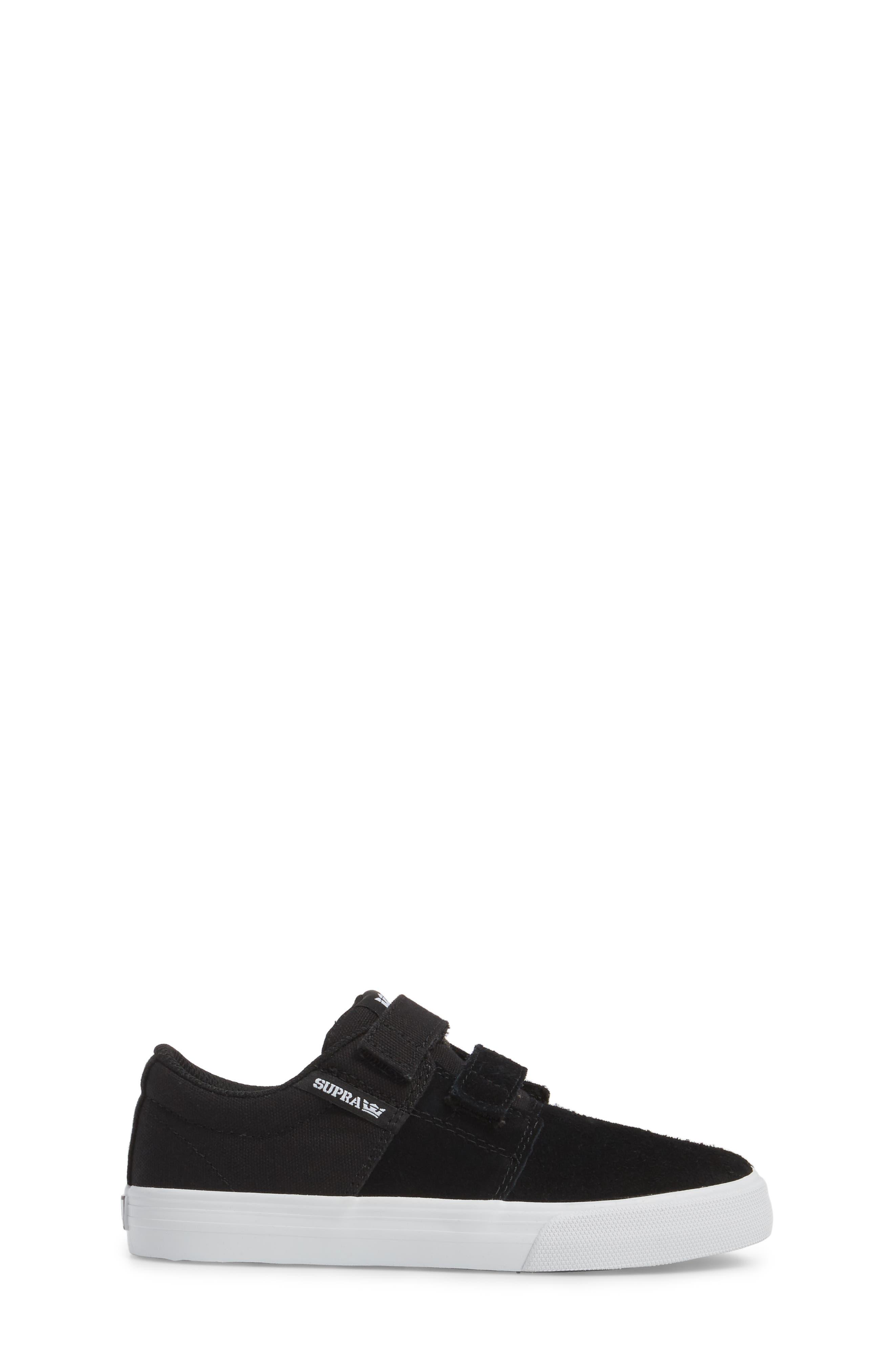 Stacks Low Top Sneaker,                             Alternate thumbnail 3, color,                             BLACK - WHITE