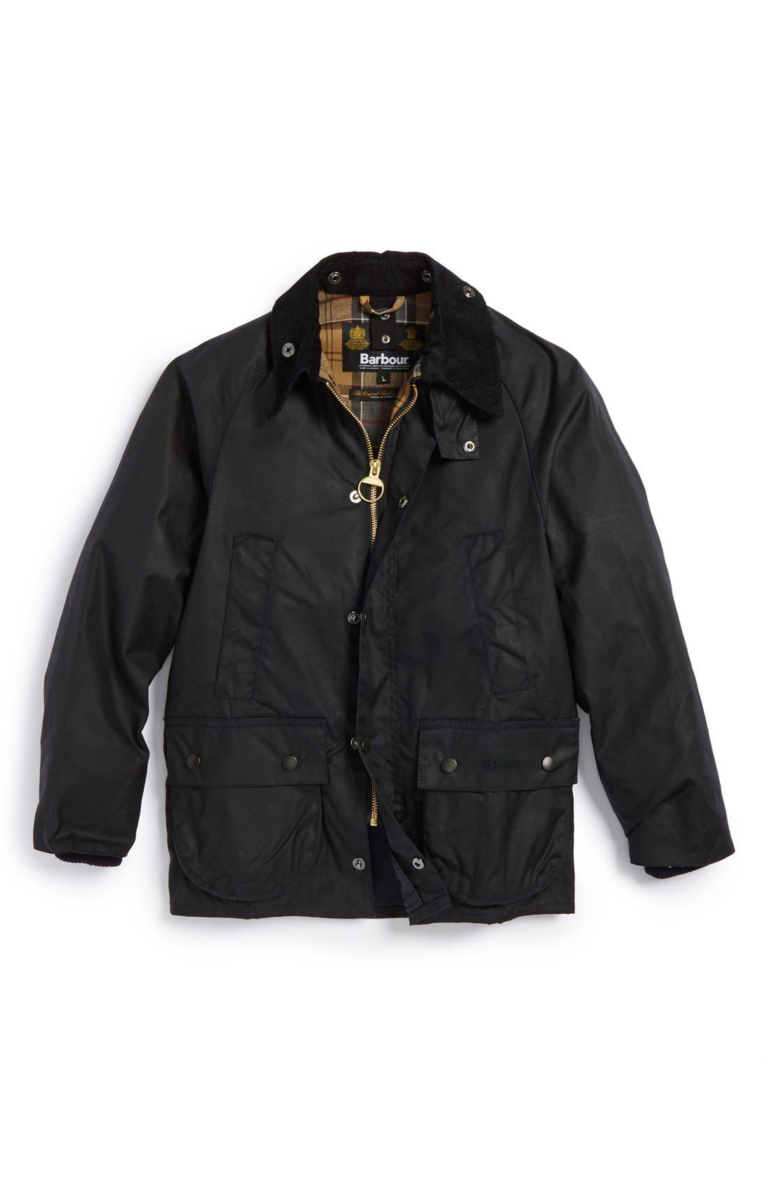 'Classic Bedale' Waterproof Waxed Cotton Jacket, Main, color, 410