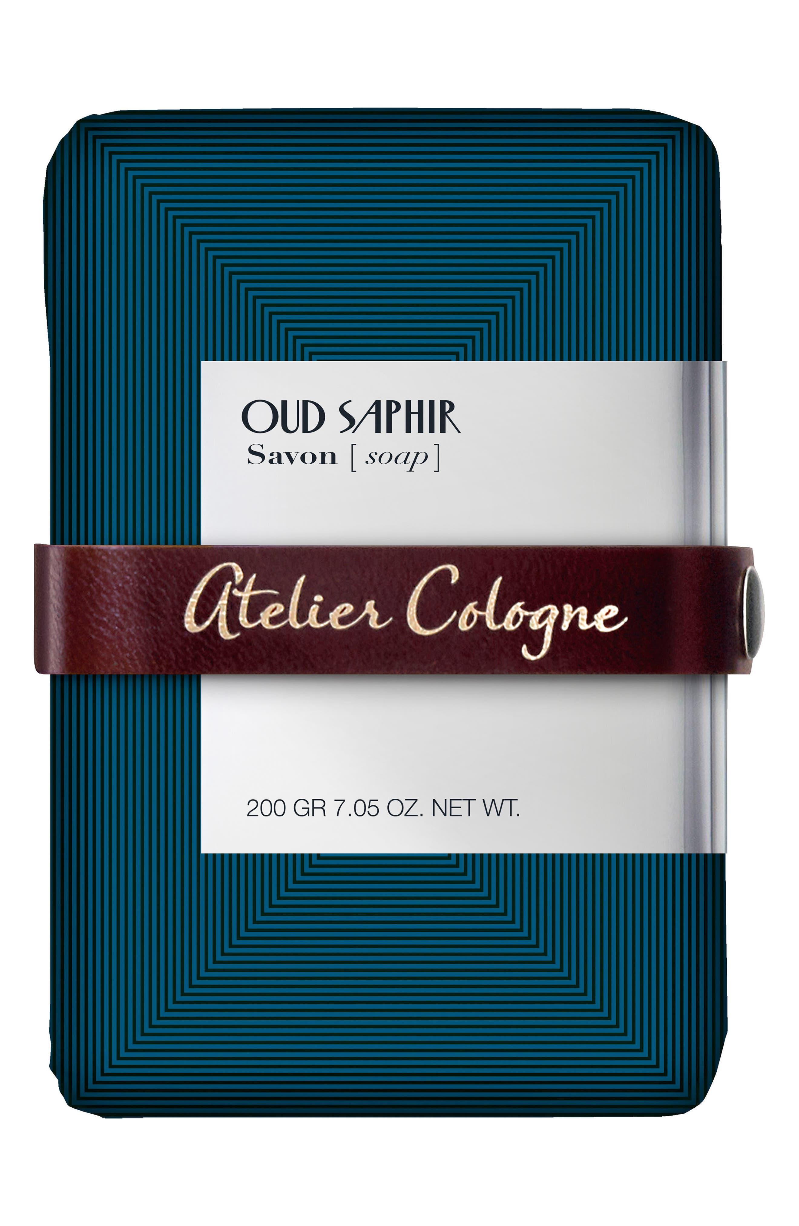 ATELIER COLOGNE,                             Oud Saphir Soap,                             Main thumbnail 1, color,                             000