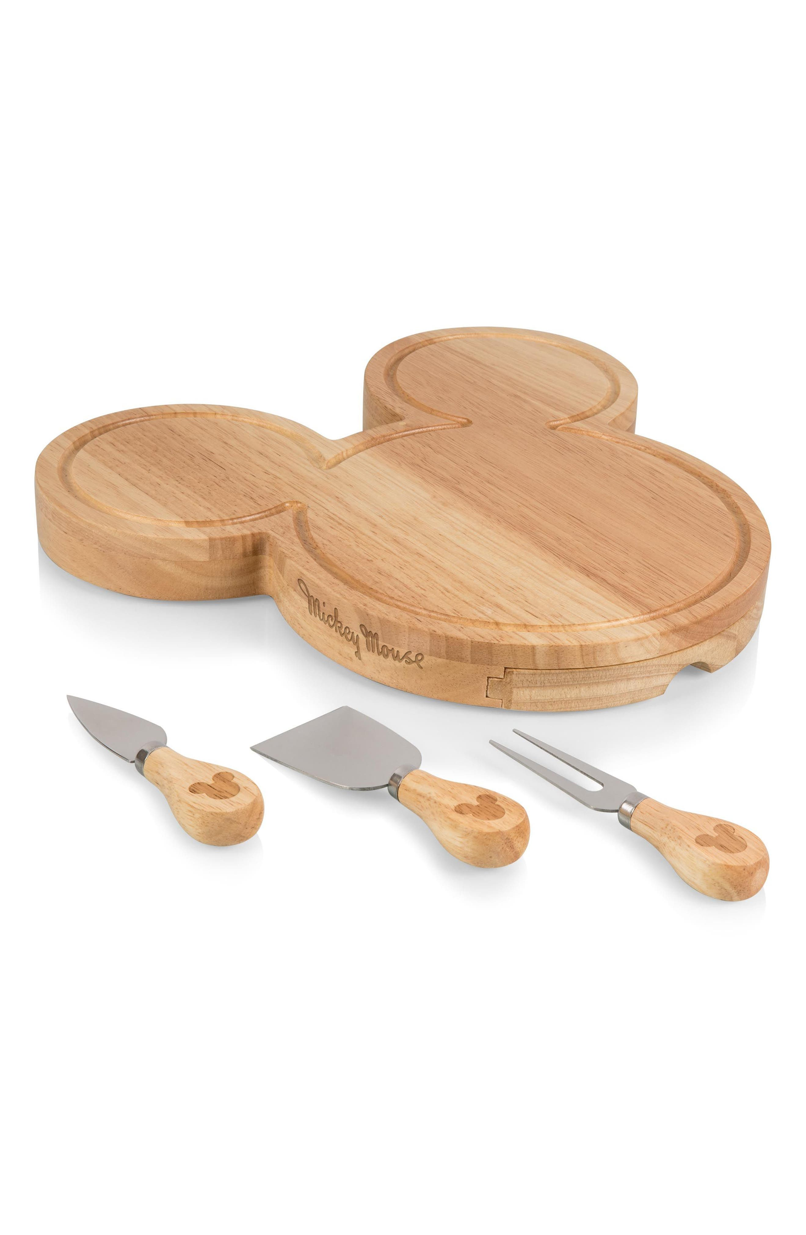 Disney - Mickey Mouse 4-Piece Cheese Board Set,                             Alternate thumbnail 2, color,                             200