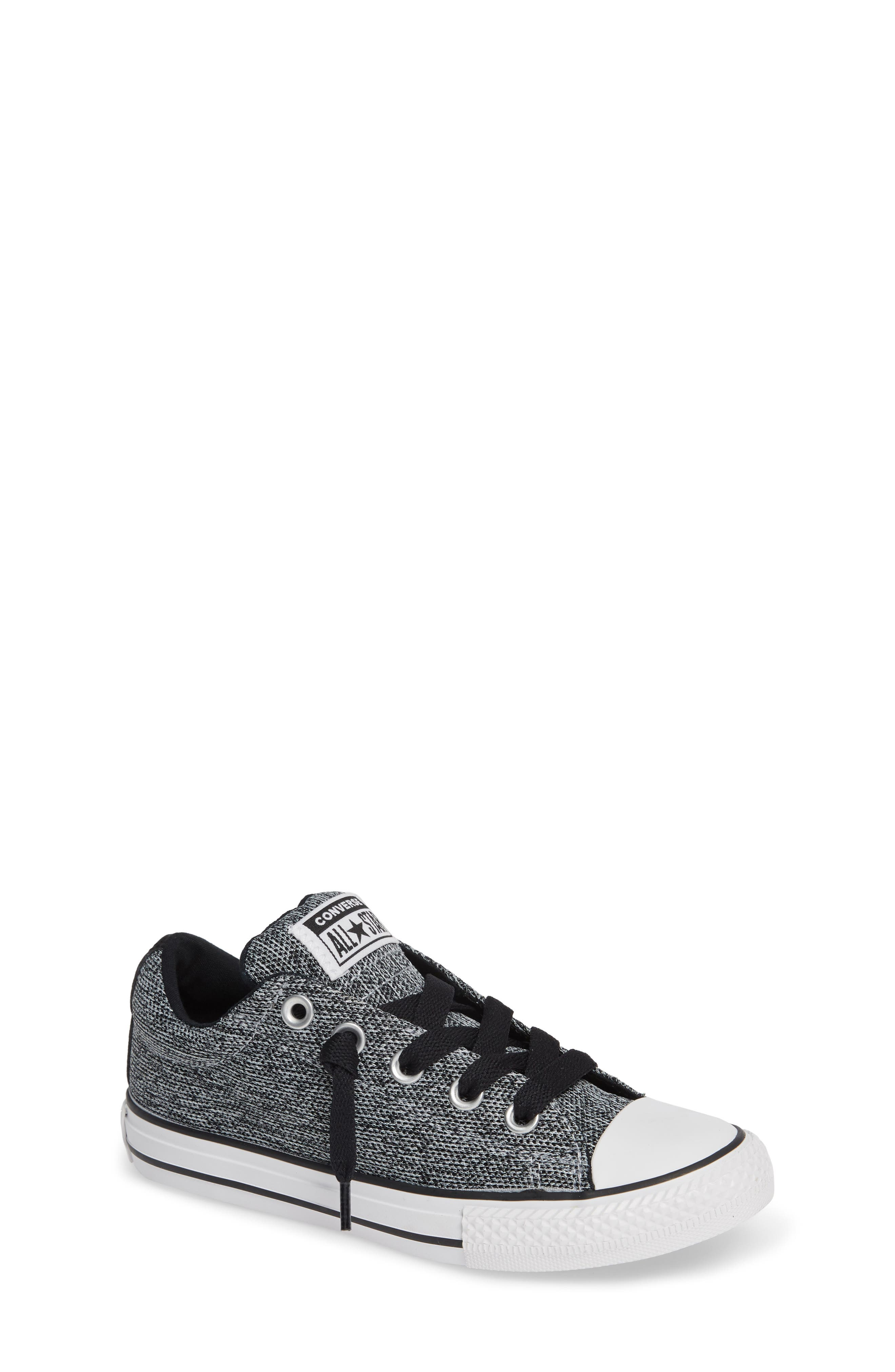 CONVERSE All Star<sup>®</sup> Graphite Textured Street Low Top Sneaker, Main, color, WOLF GREY