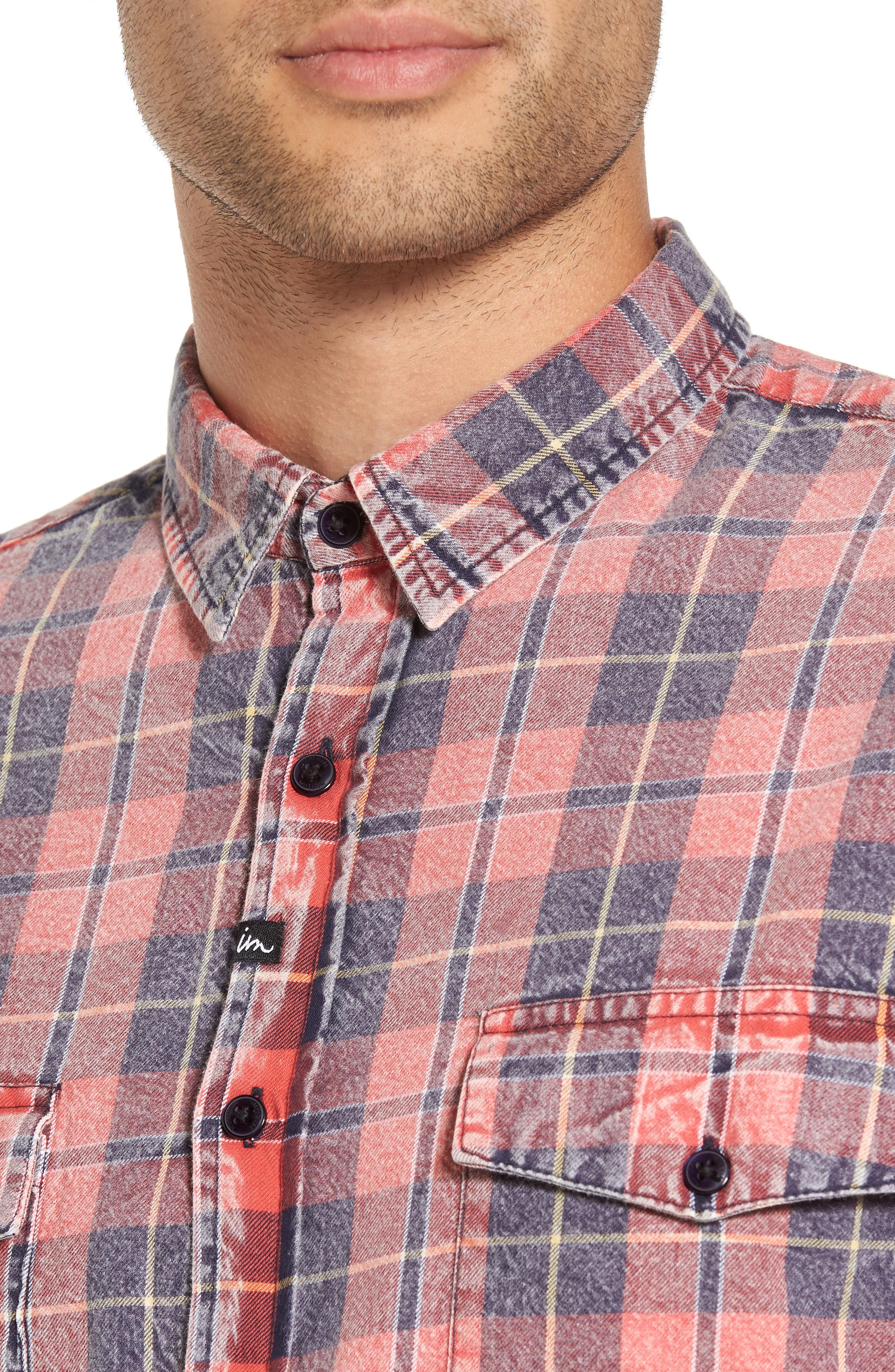 Greenwich Flannel Shirt,                             Alternate thumbnail 4, color,                             600