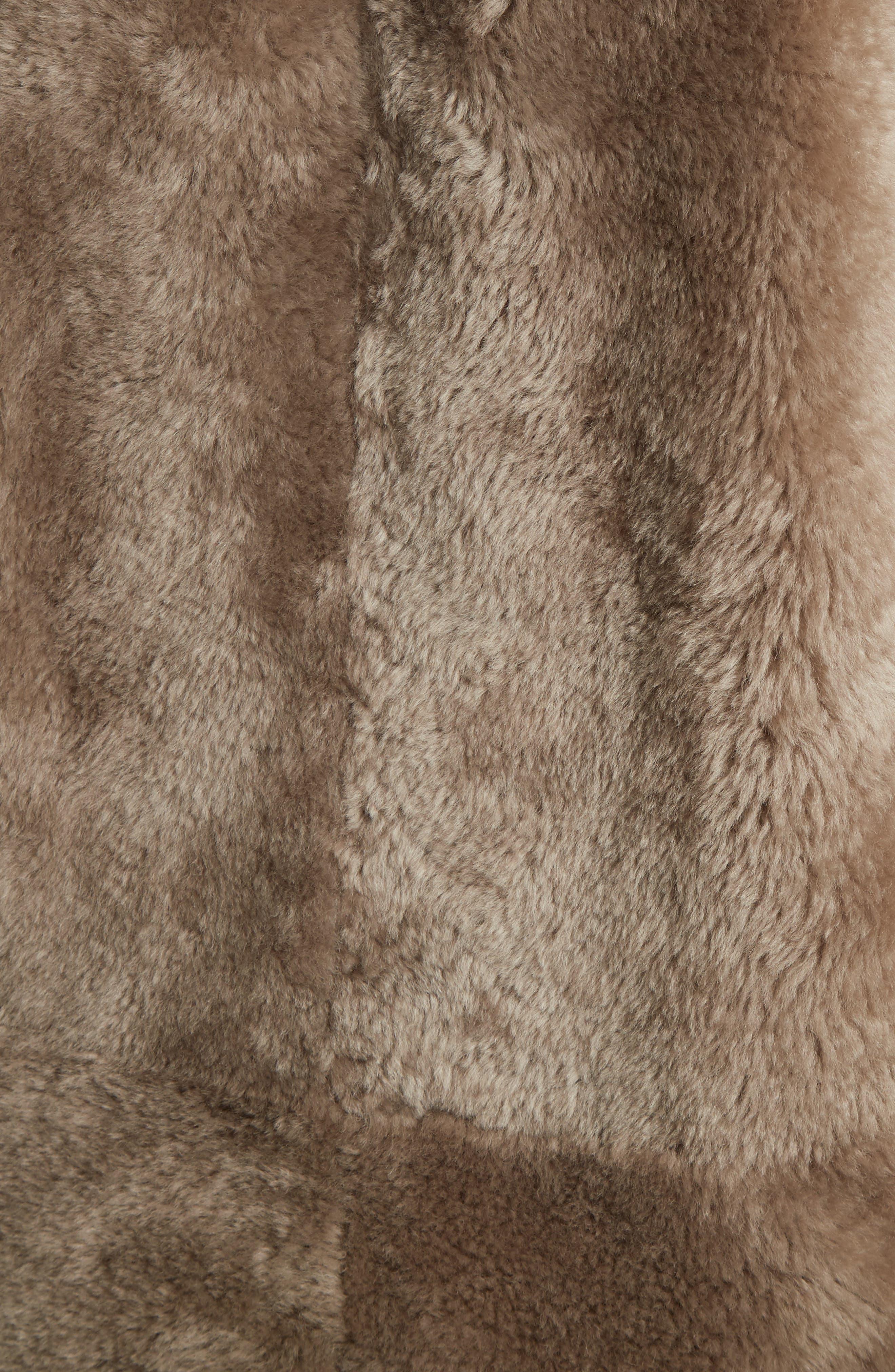 Genuine Shearling Reversible Coat,                             Alternate thumbnail 6, color,                             208