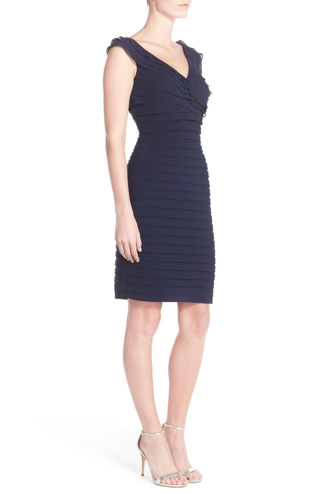 Chiffon & Jersey Sheath Dress,                             Alternate thumbnail 8, color,                             408