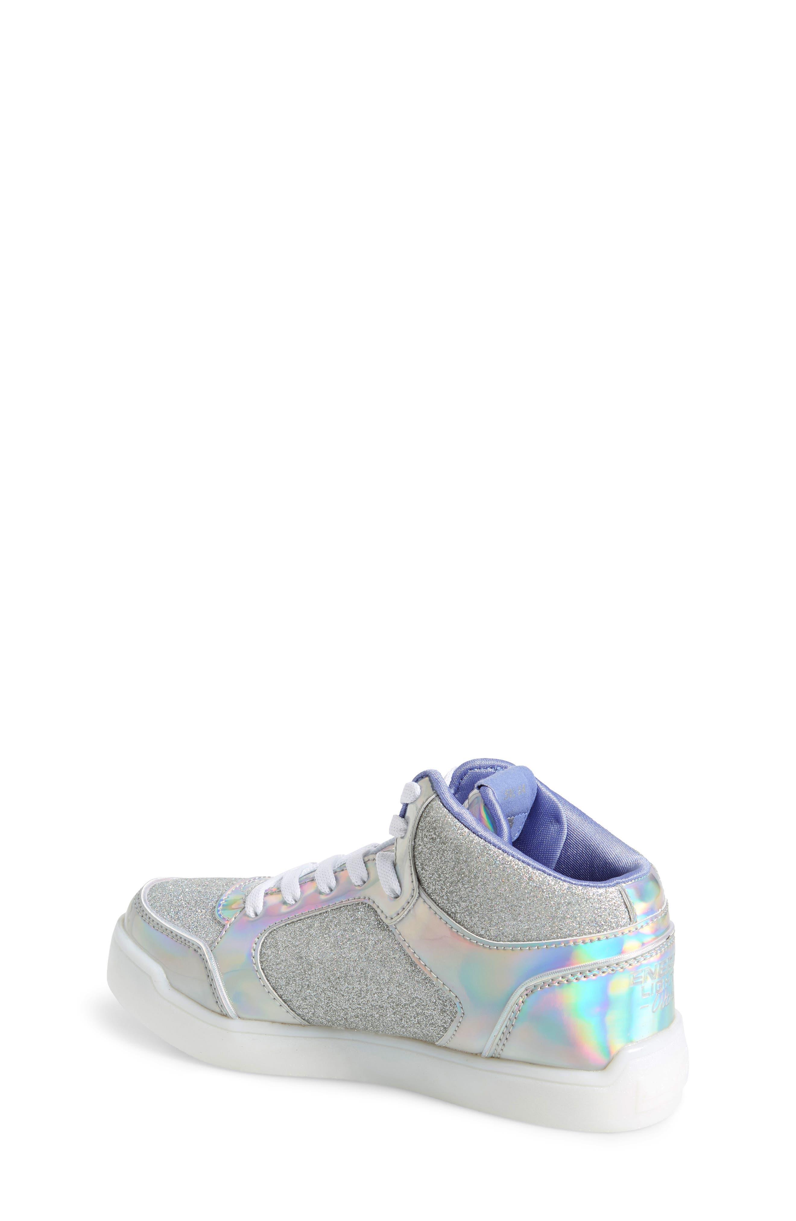 SKECHERS,                             Energy Lights Pro Ultra Light-Up Sneaker,                             Alternate thumbnail 2, color,                             SILVER