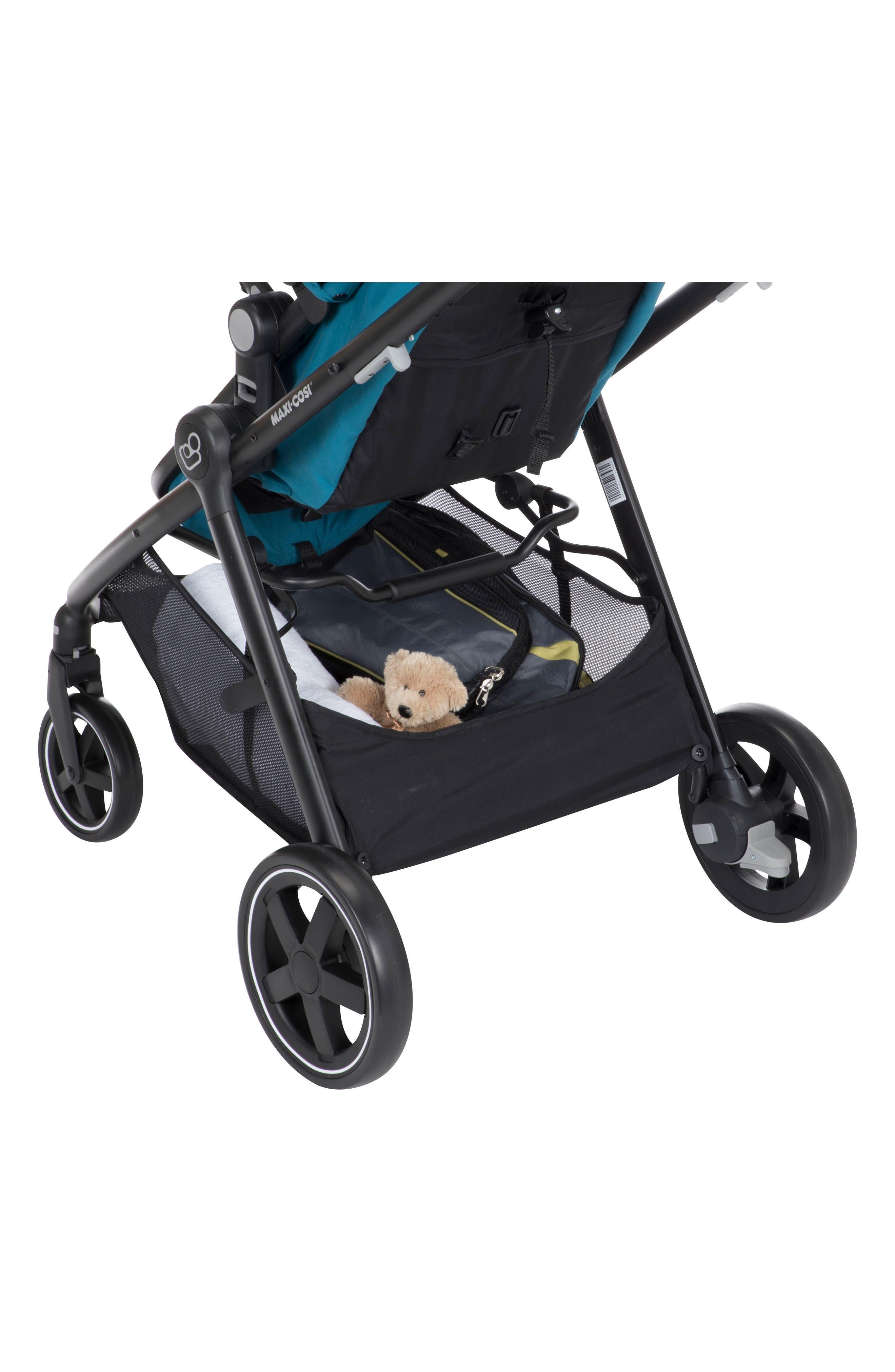 5-1 Mico 30 Infant Car Seat & Zelia Stroller Modular Travel System,                             Alternate thumbnail 5, color,                             EMERALD TIDE