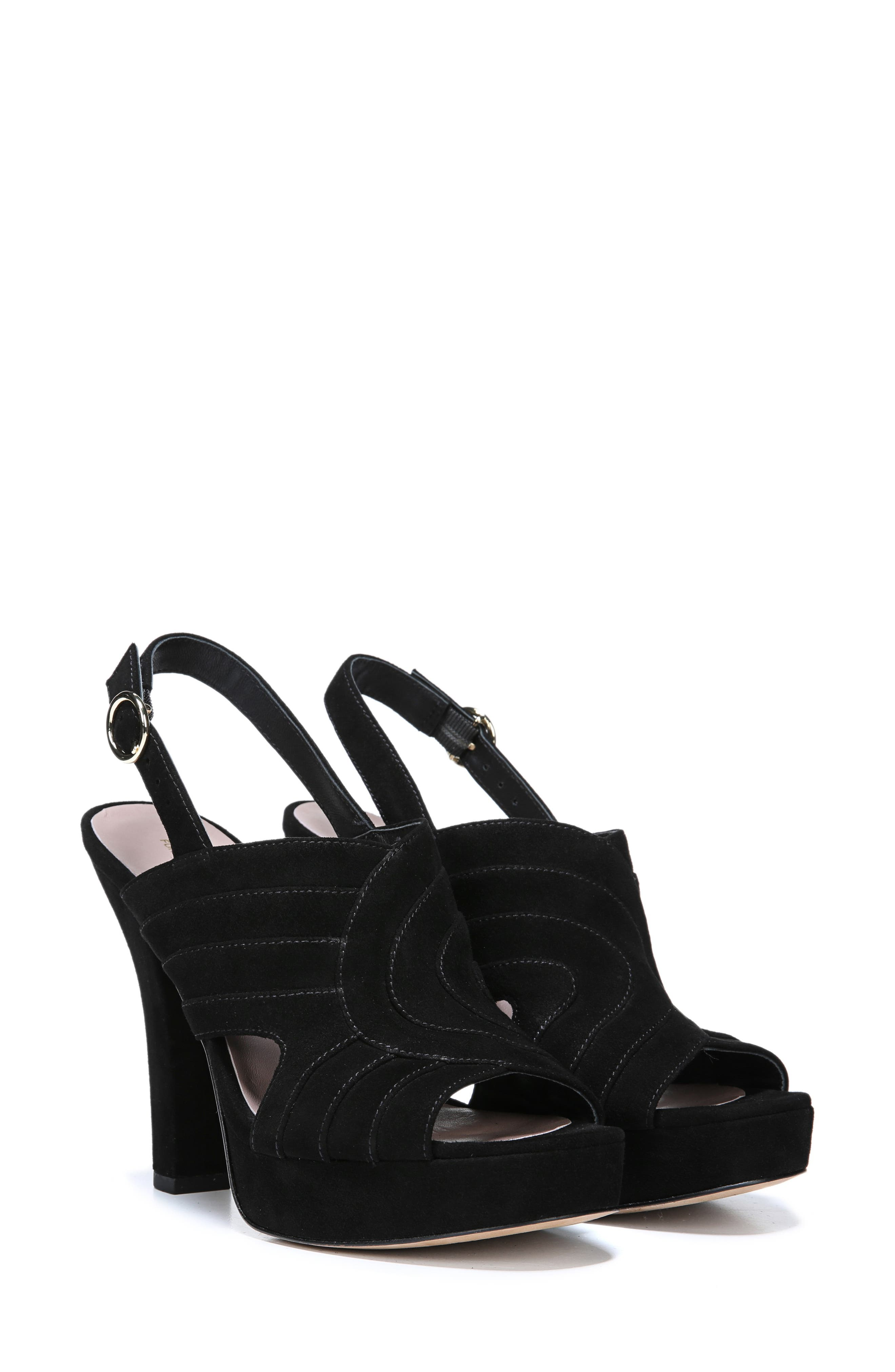 Tabby Platform Sandal,                             Alternate thumbnail 7, color,                             BLACK