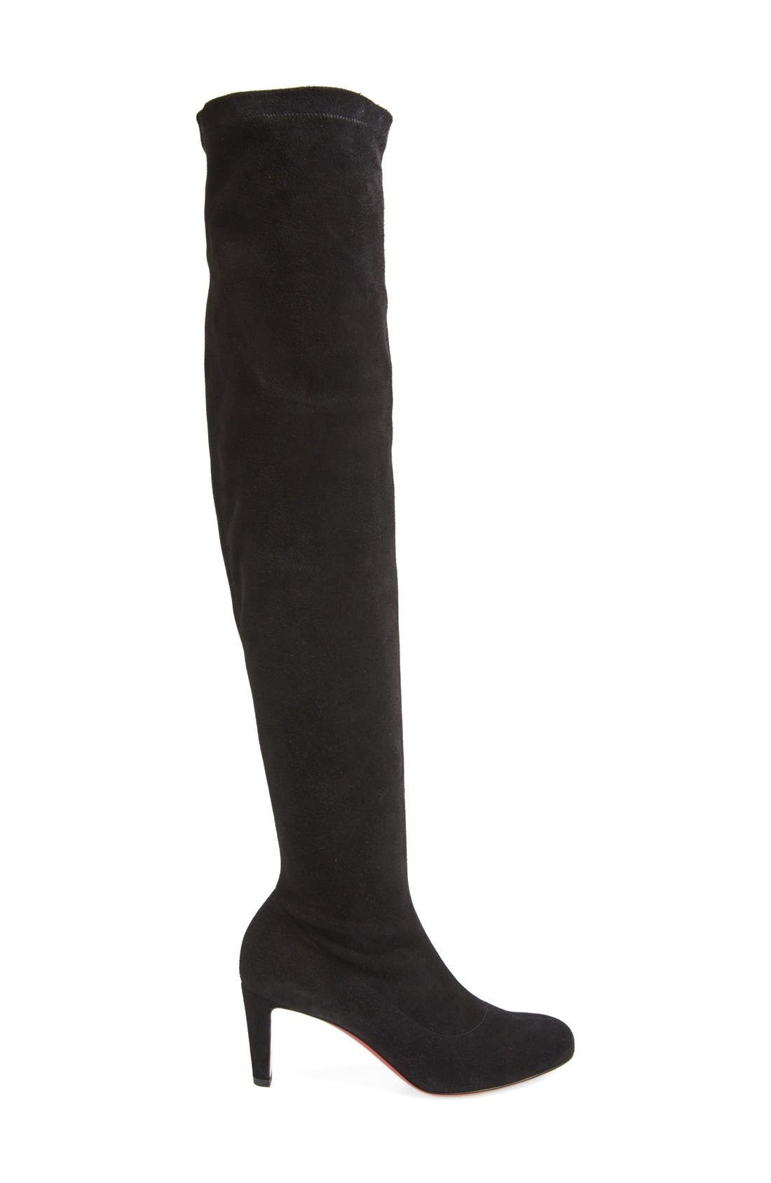 'Alta' Over the Knee Boot,                             Alternate thumbnail 4, color,                             001