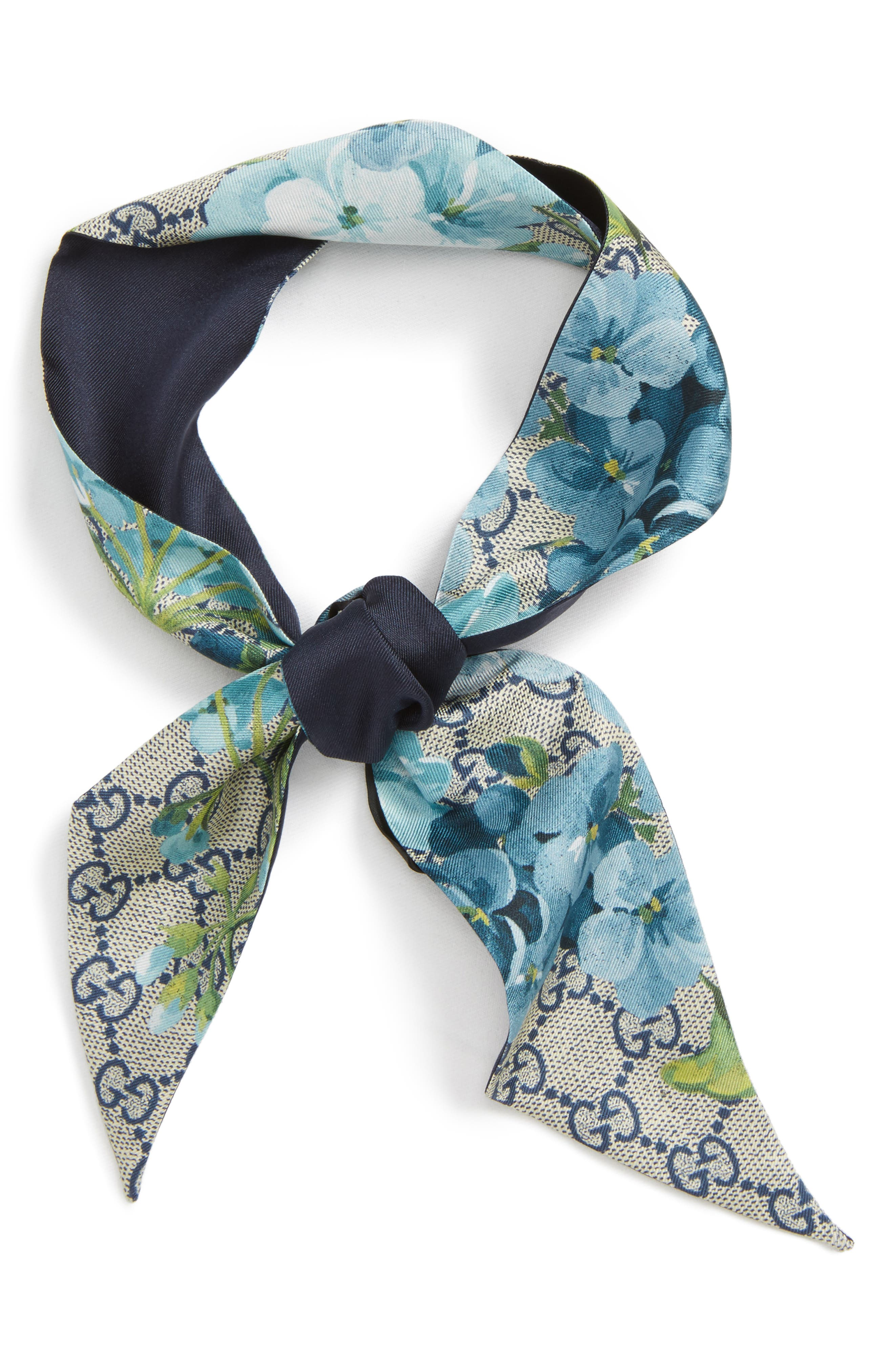 GG Blooms Skinny Scarf,                         Main,                         color,