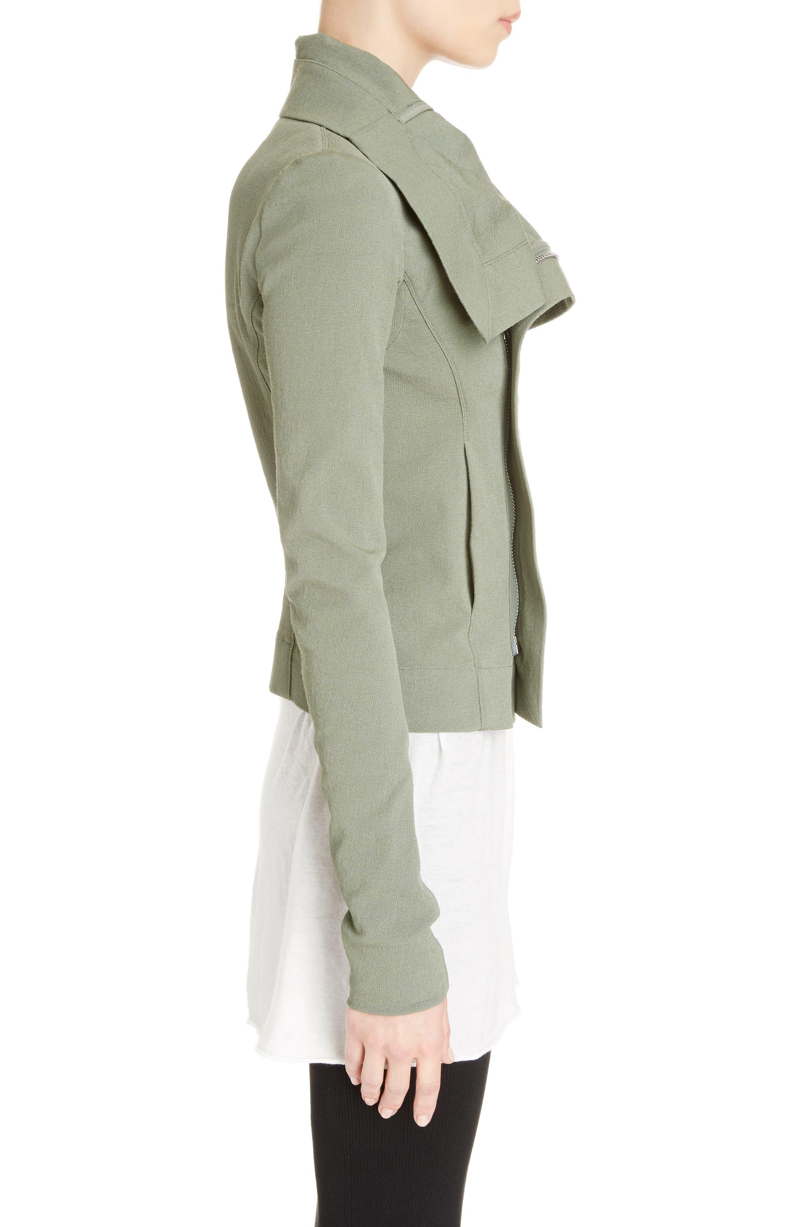 Cotton Blend Biker Jacket,                             Alternate thumbnail 3, color,                             300
