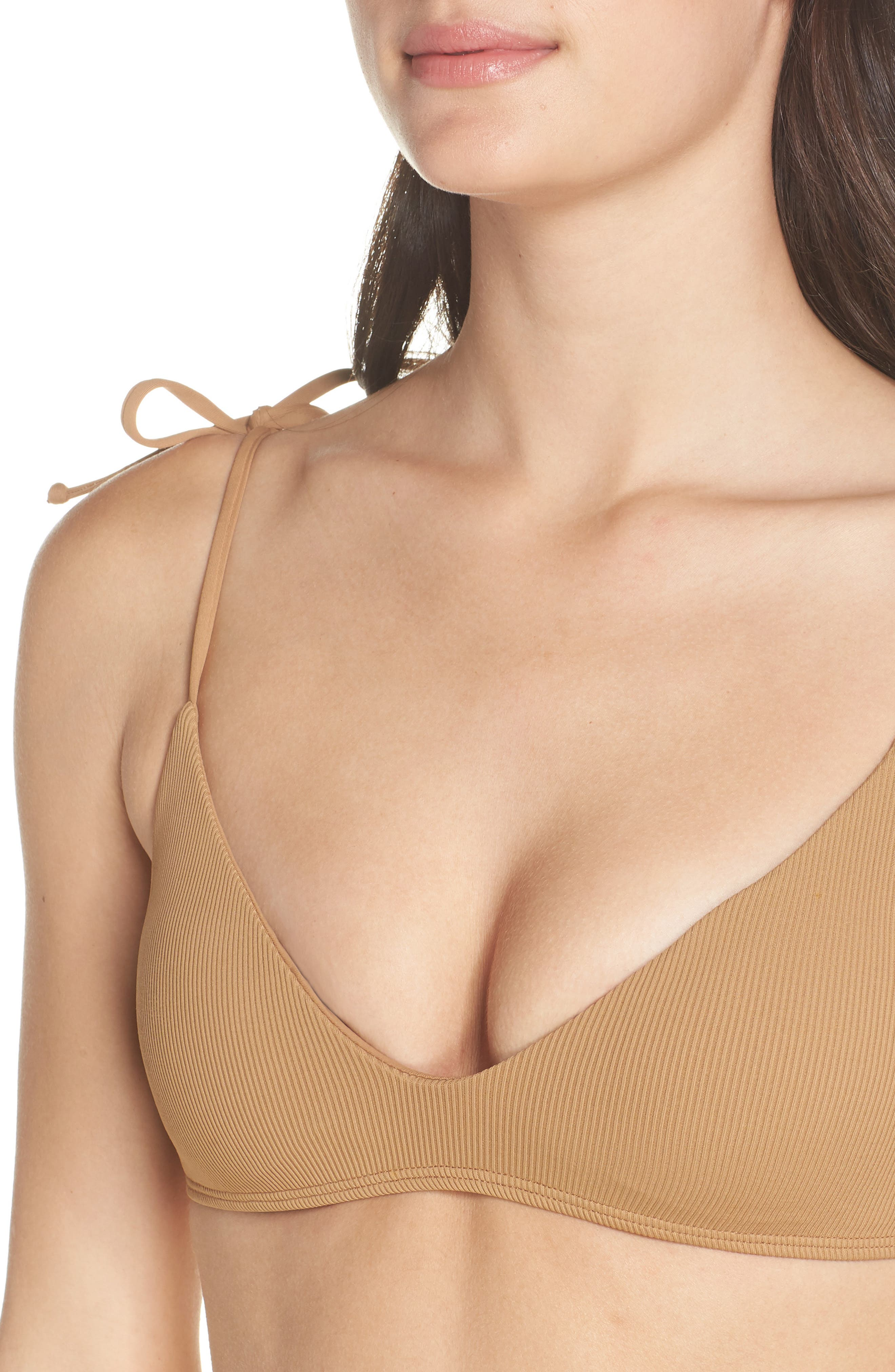 Daisy Bikini Top,                             Alternate thumbnail 4, color,                             CAMEL
