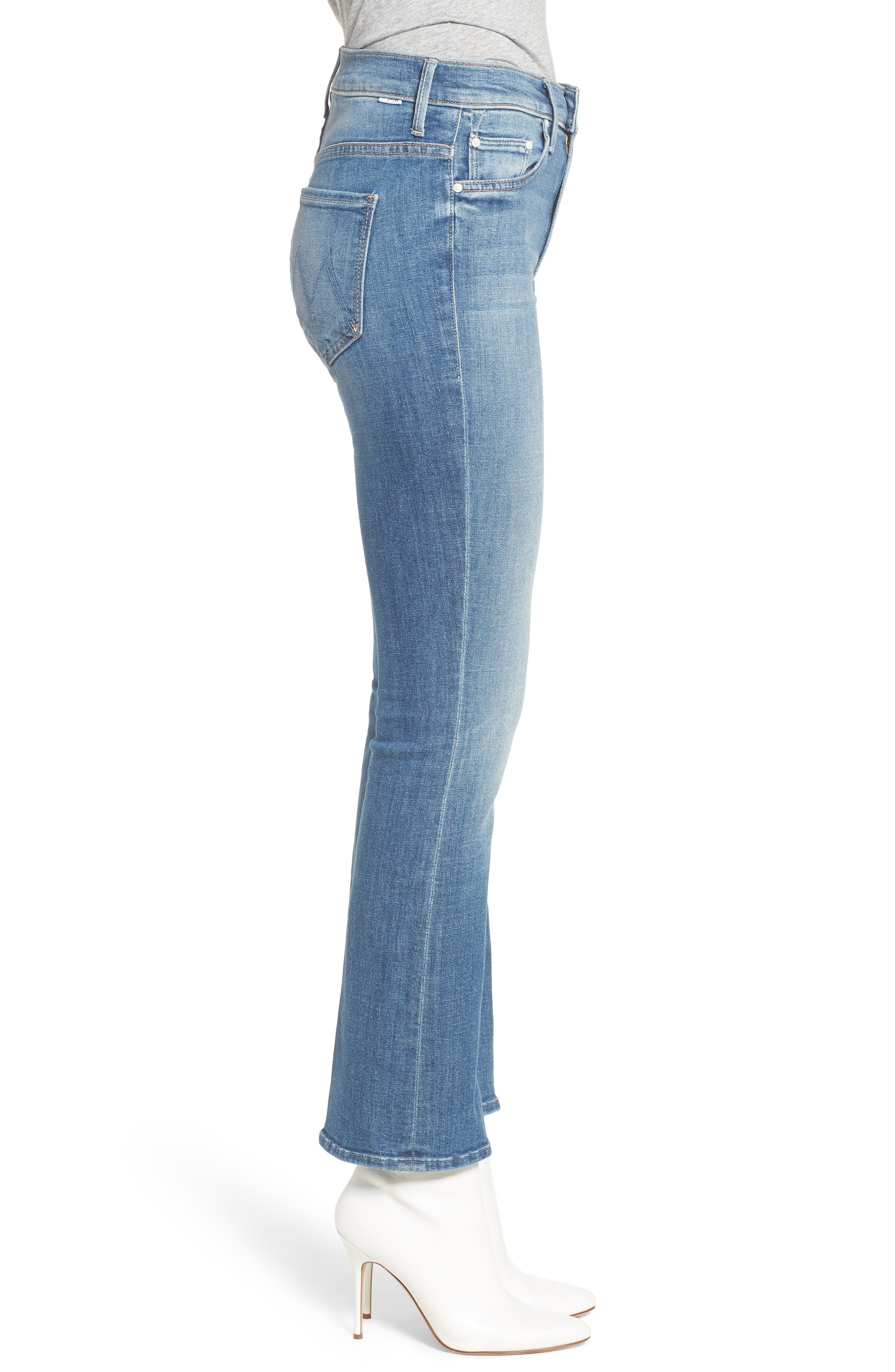 The Insider High Waist Ankle Bootcut Jeans,                             Alternate thumbnail 3, color,                             404