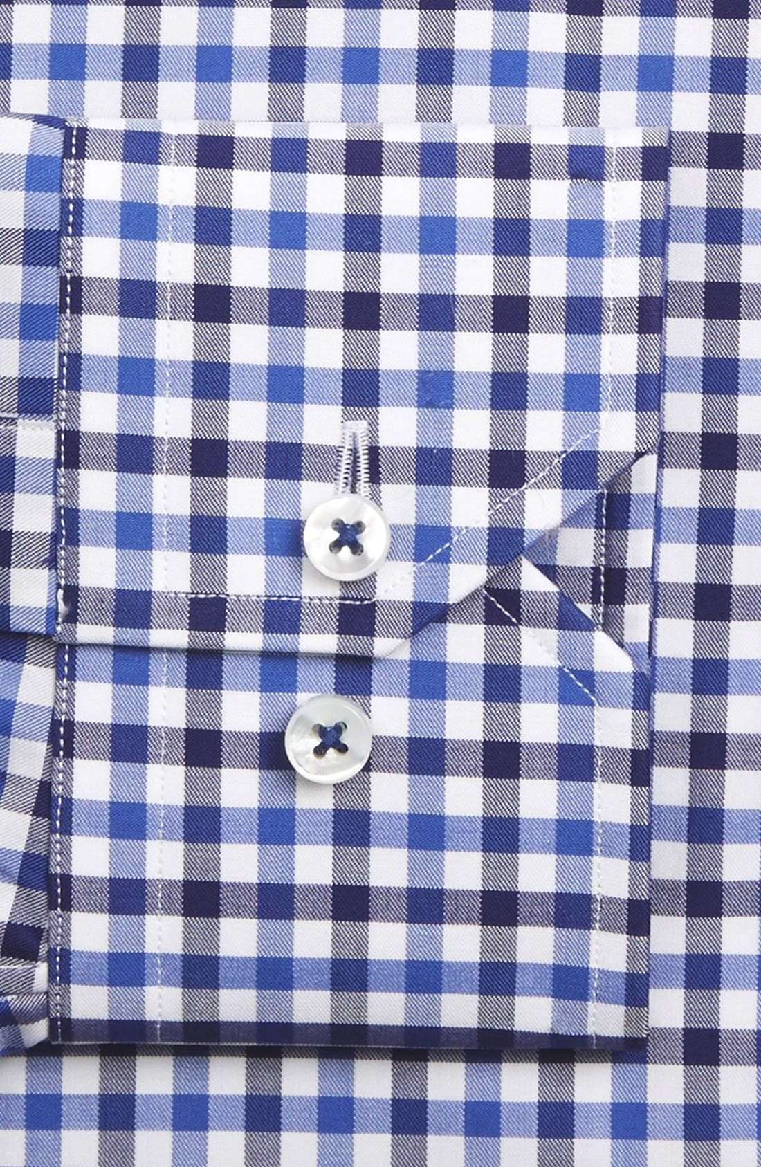 Tailored Fit Check Dress Shirt,                             Alternate thumbnail 2, color,